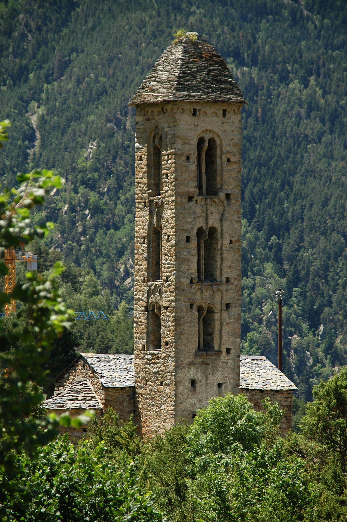 Ancient church with lombard bell tower by Paco Vilalta