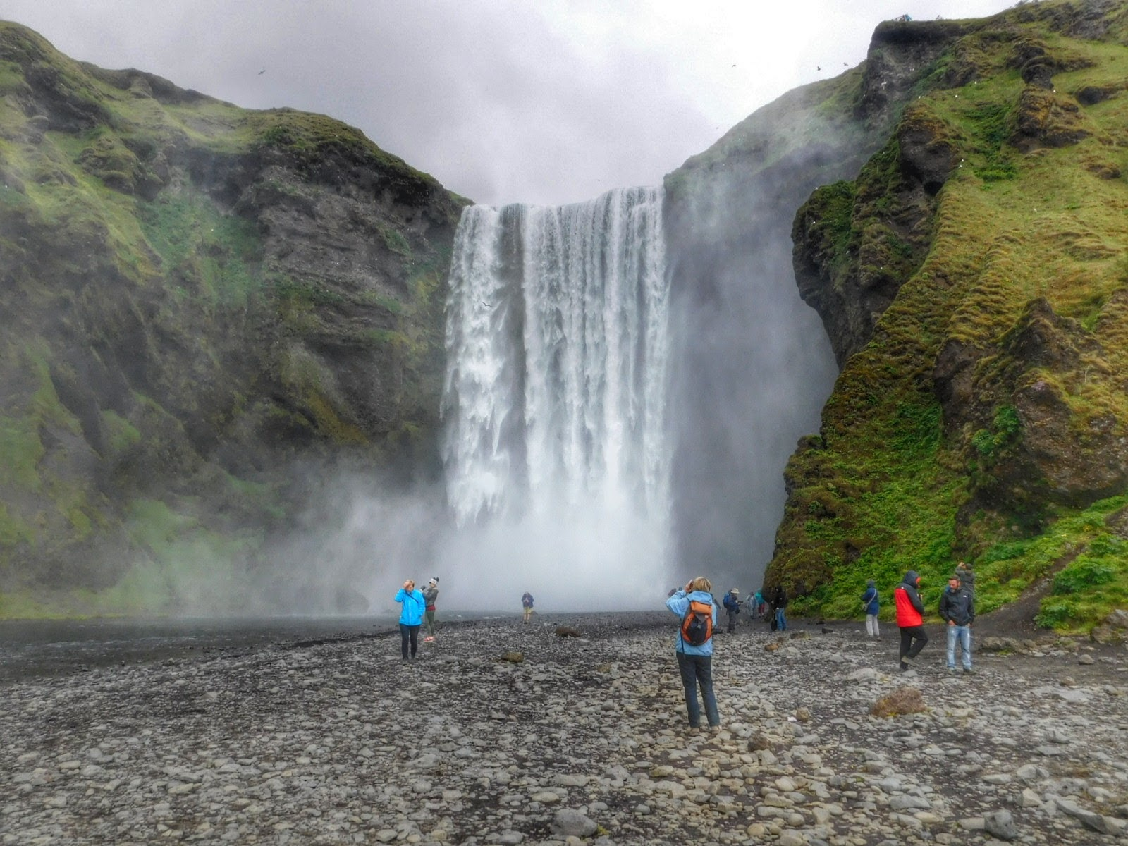 Skogafoss - waterfall in Iceland  by Sheila Button