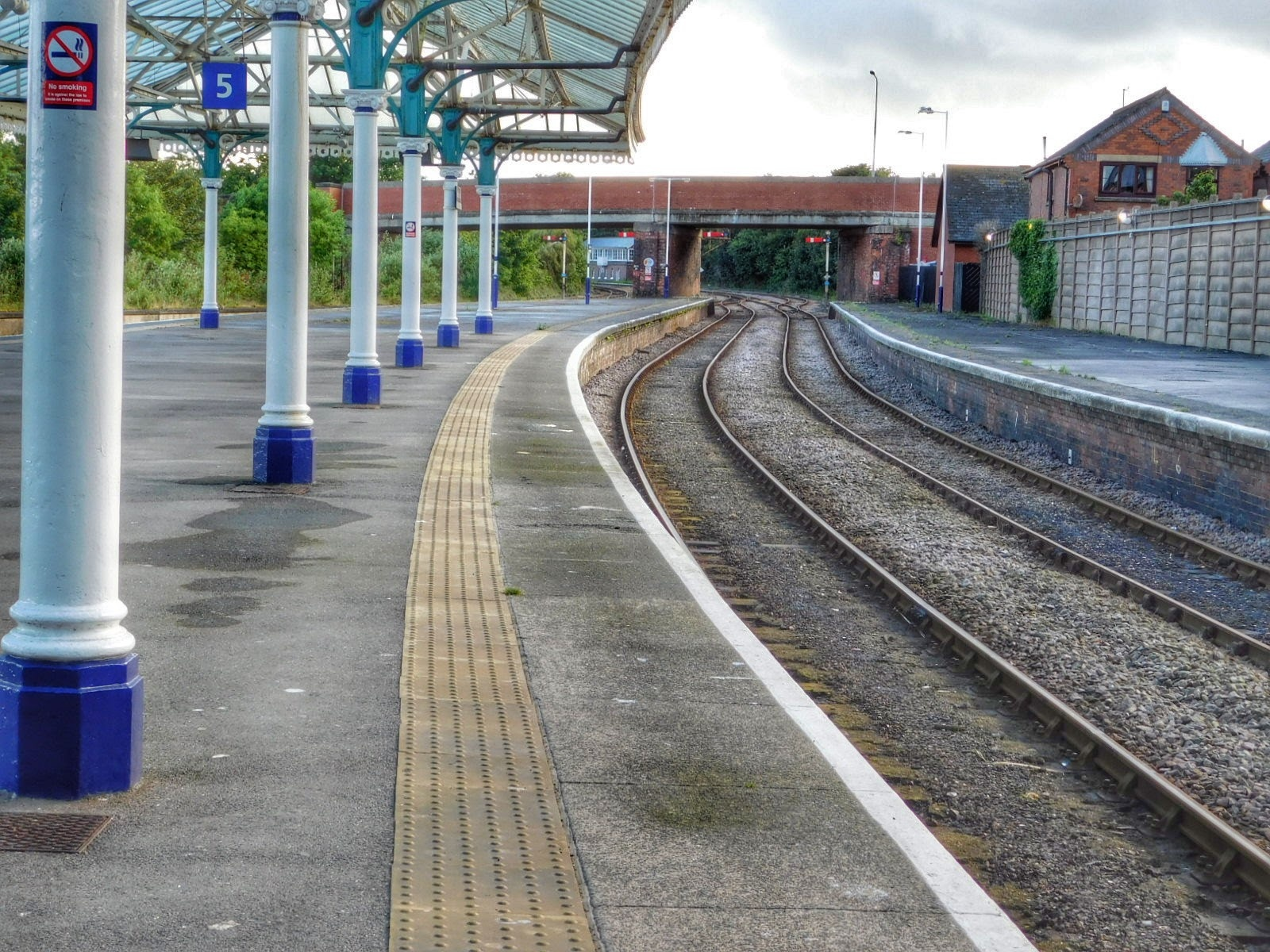 Platform 5 at Bridlington Railway Station, UK by Sheila Button