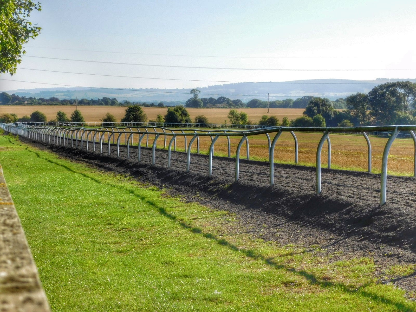 Near Malton, UK - Gallops Horse training facilities  by Sheila Button