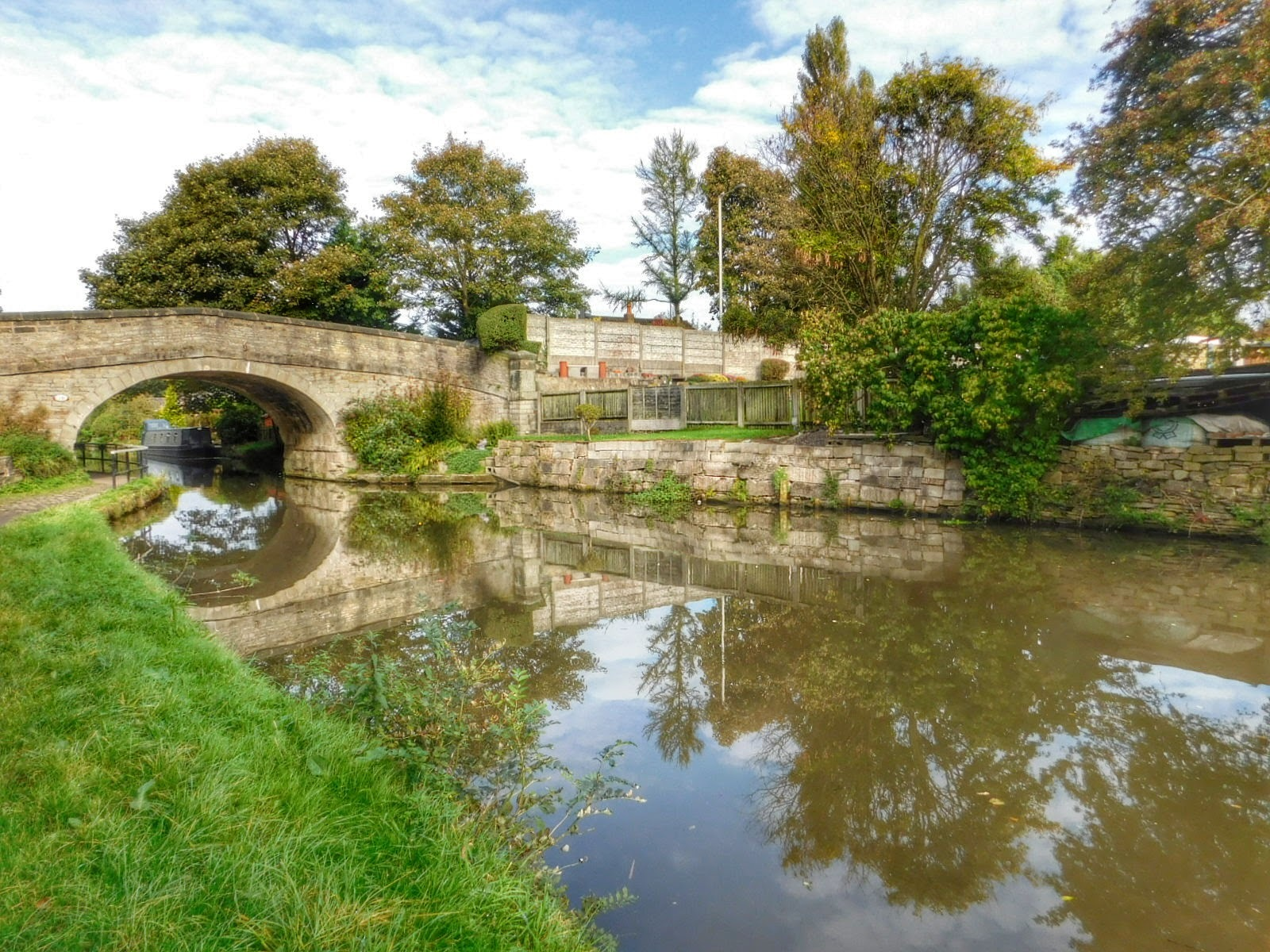 Parbold, Lancashire on the Canal, UK by Sheila Button