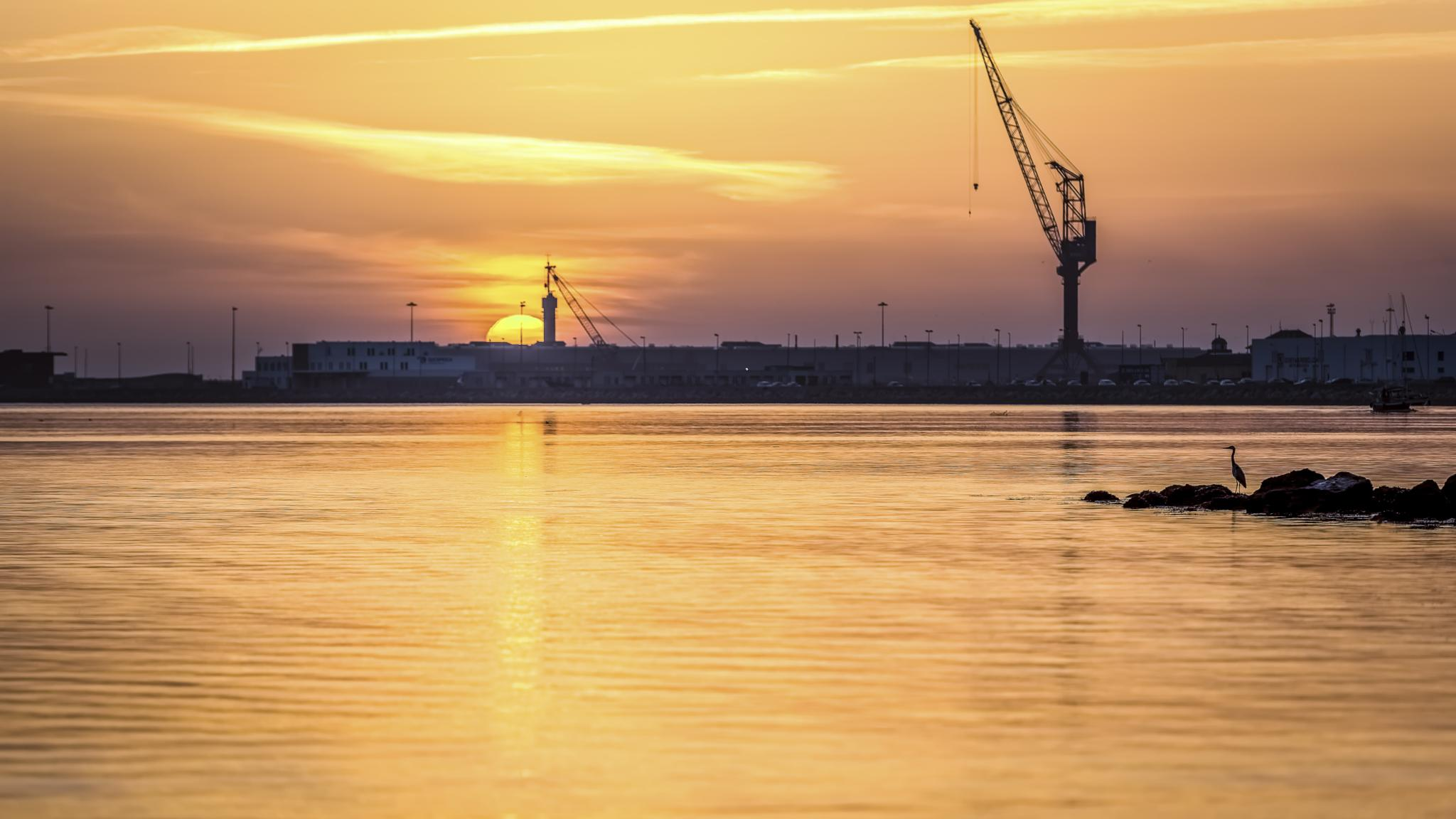 Photo in Landscape #portugal #viana do castelo #sunset #river #landscape #riversun #orange #clouds