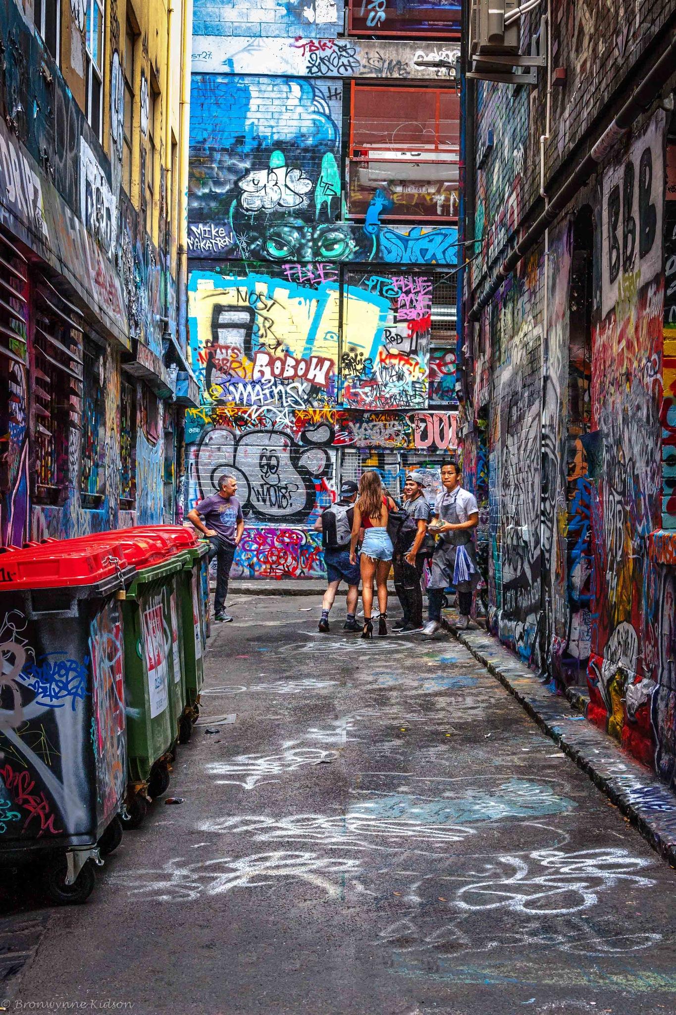 In the Alley by Bronwynne Kidson