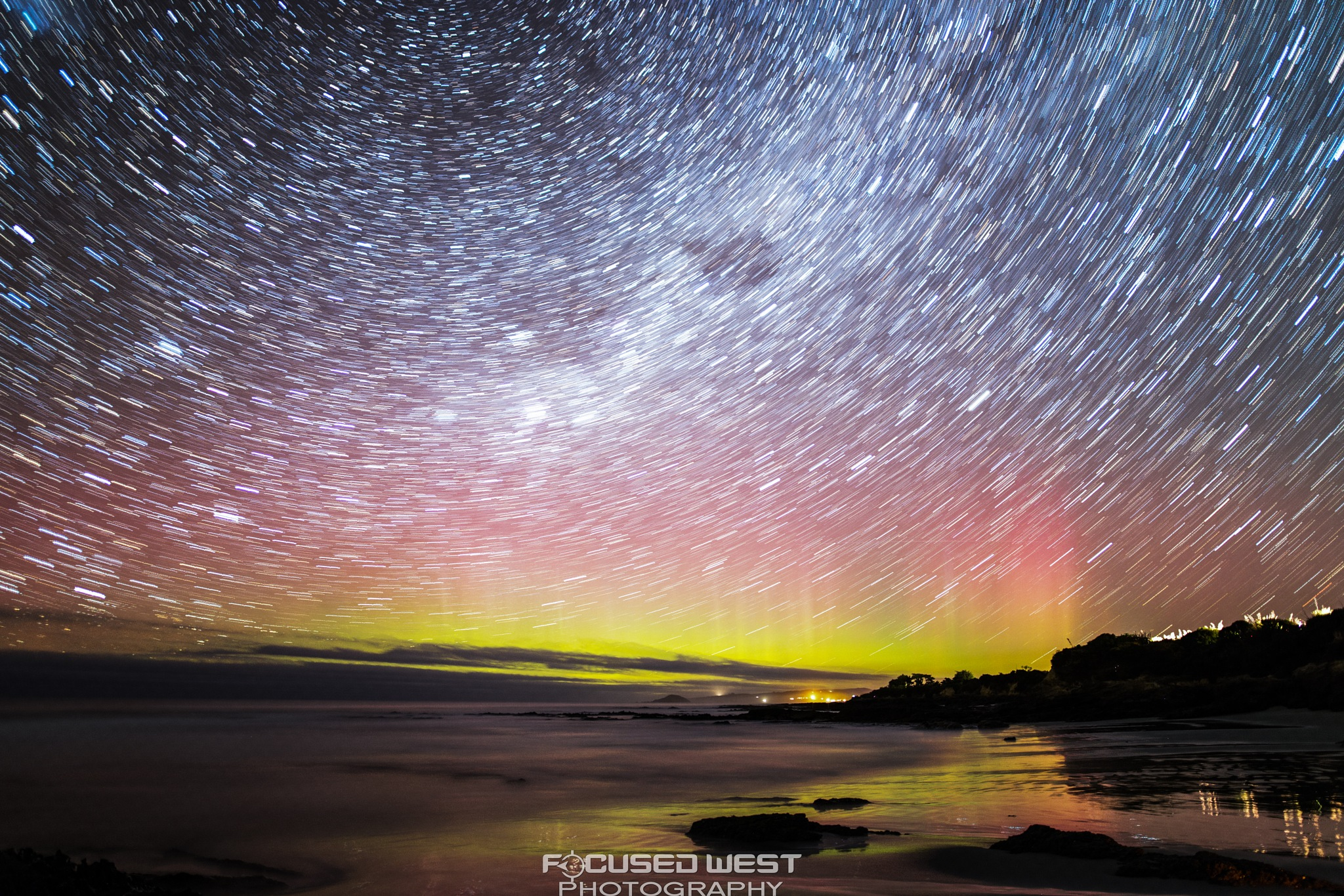 Kuri Bush Aurora StarTrail by Gareth West
