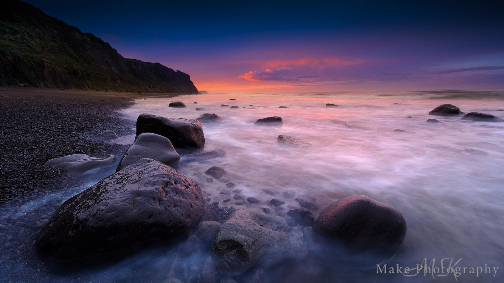 Ohawe Beach Sunrise by MikeGannaway
