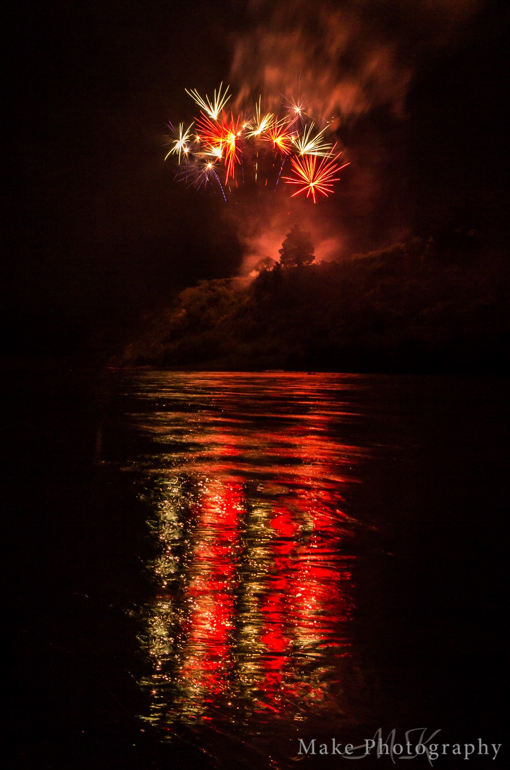 Firework Reflections by MikeGannaway