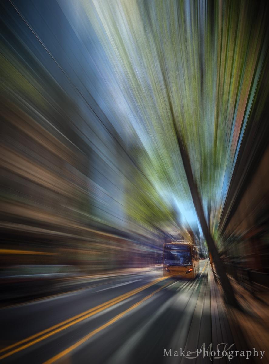 Speeding through Town by MikeGannaway
