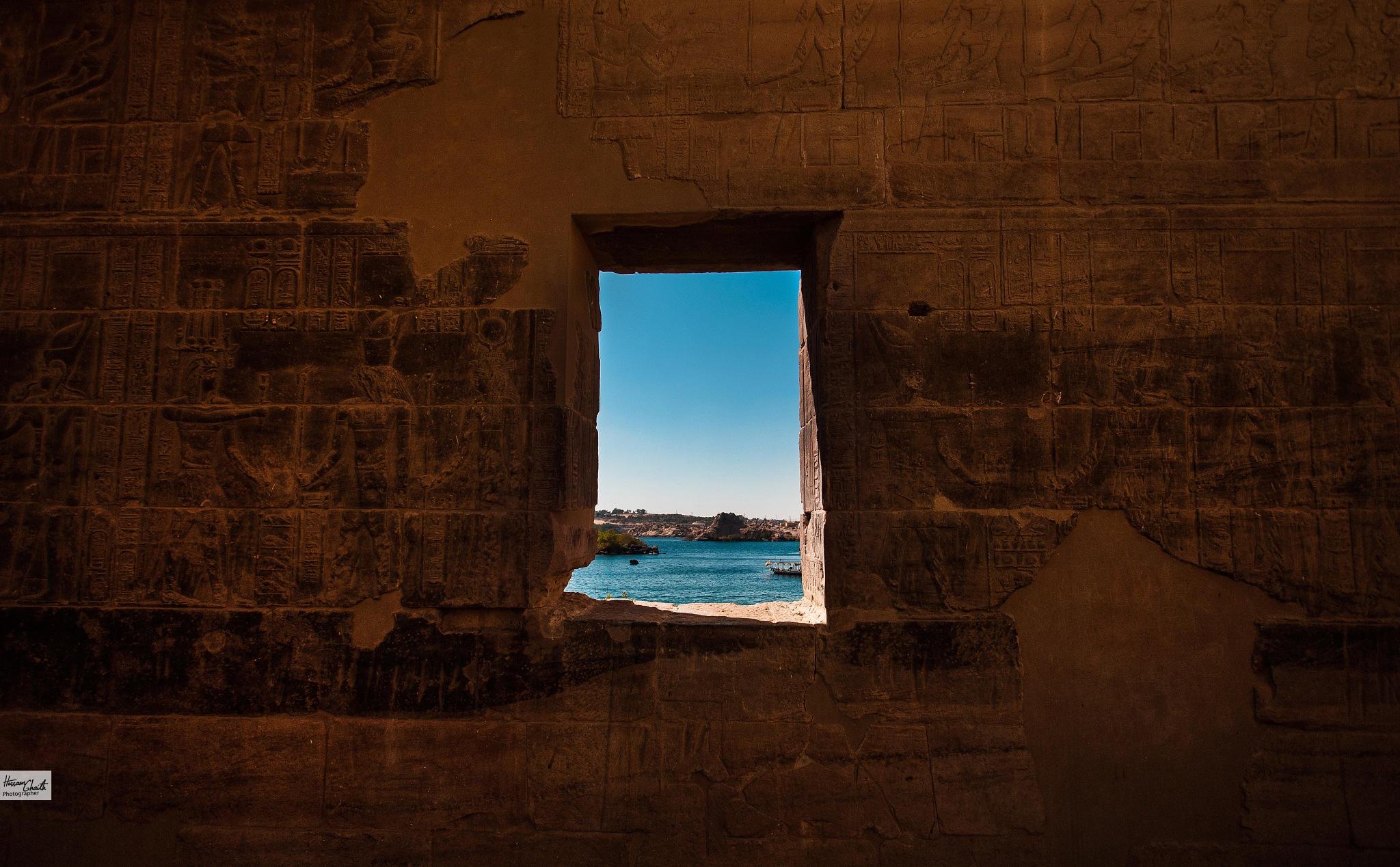 Philae Temple by Hossam Ahmed Ghaith