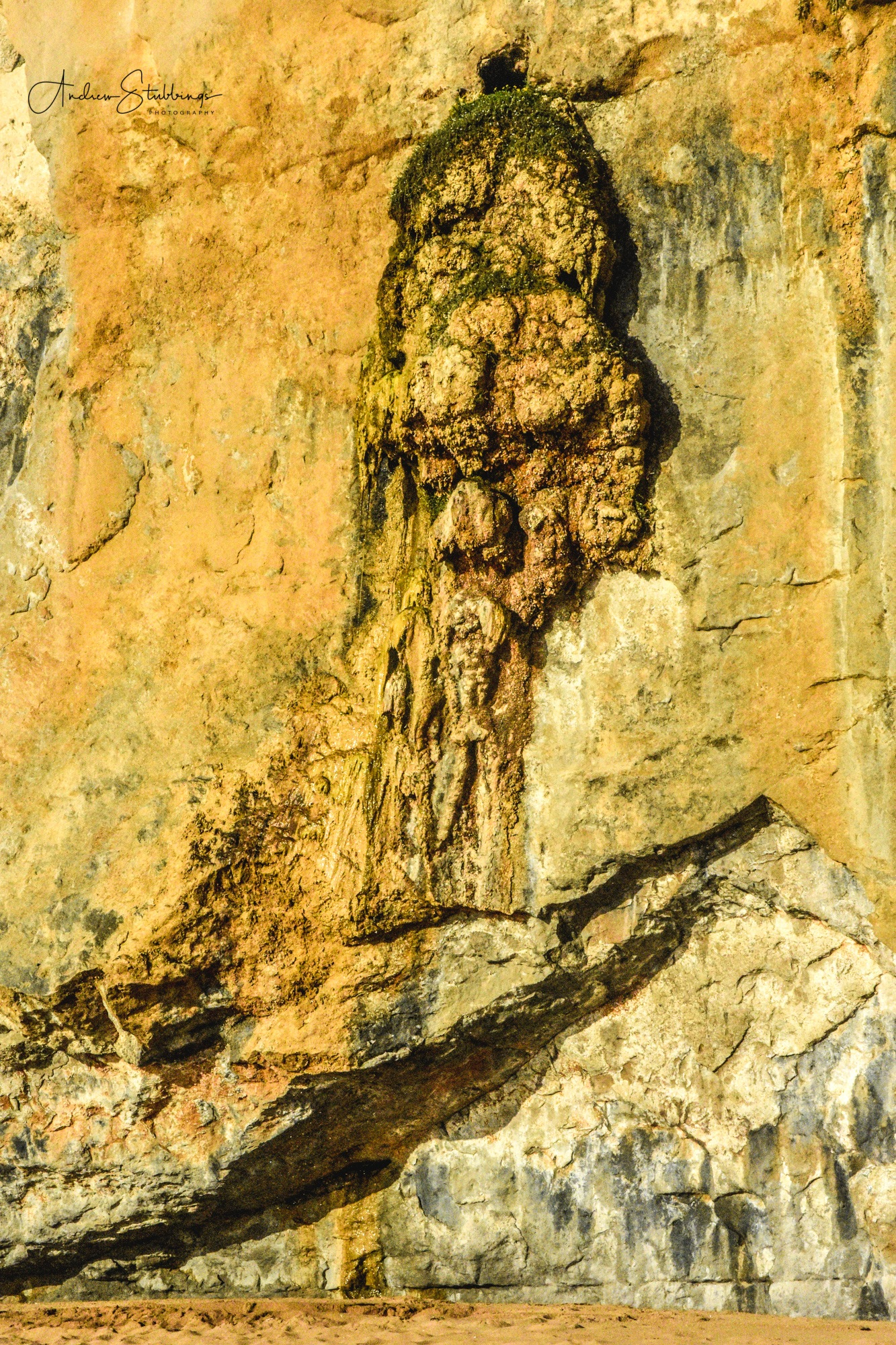 Face in the Cliff by Andrew Stubbings