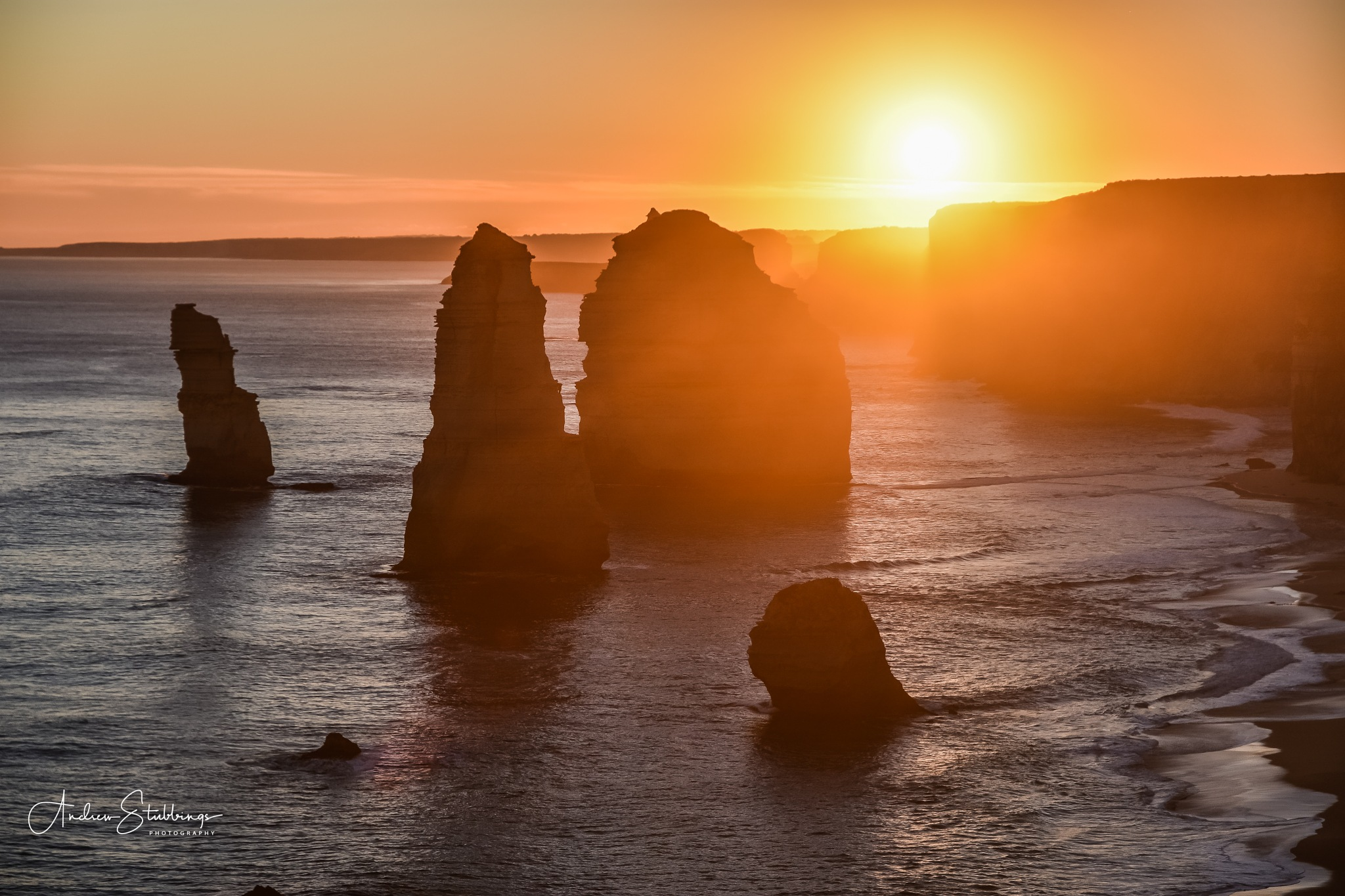 Winter sunset 12 Apostles by Andrew Stubbings