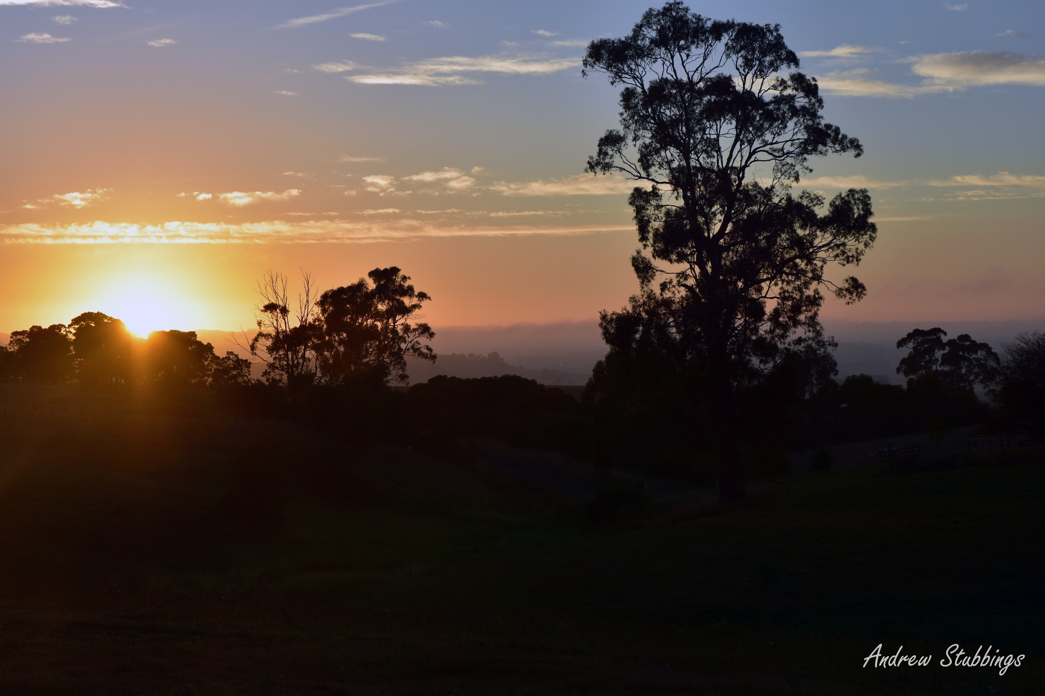Sunrise in Cobden by Andrew Stubbings