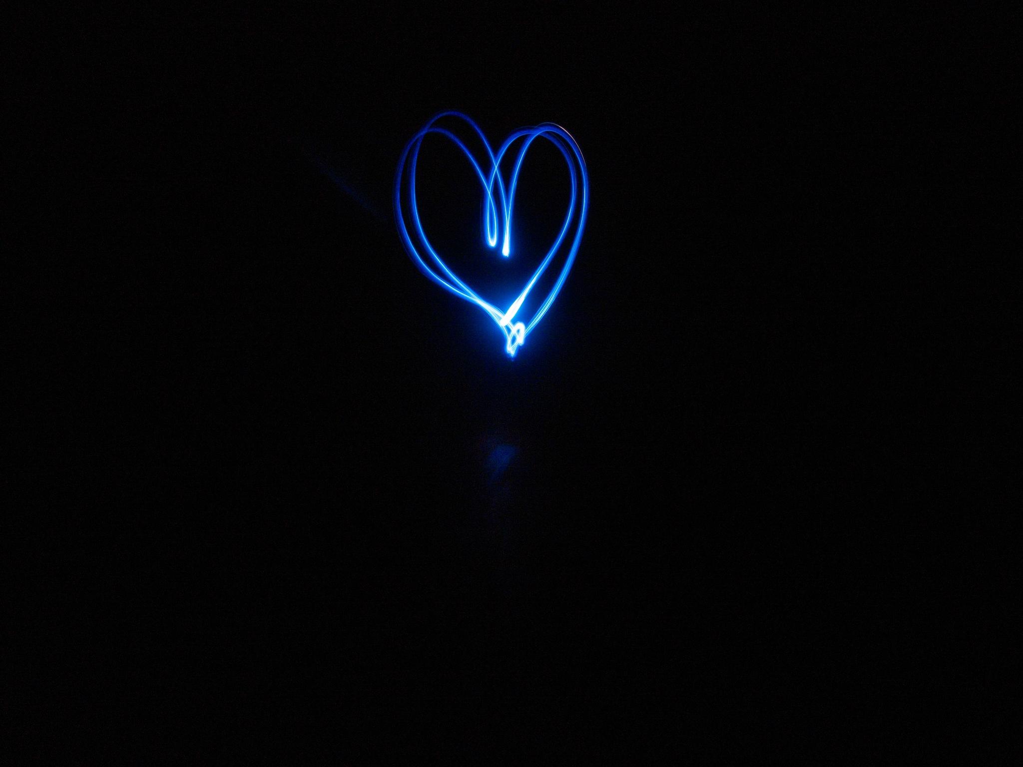 heart in blue by NikoDim