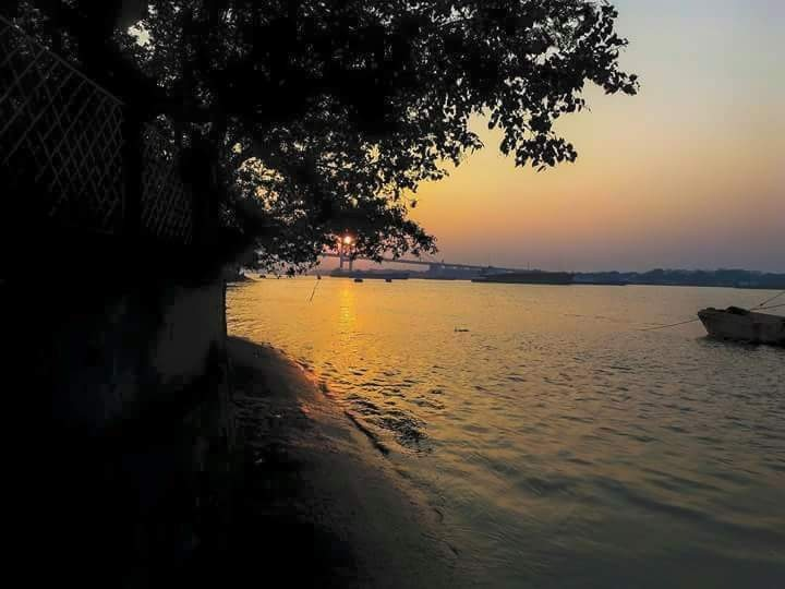 Sunset  From Outram Ghat  by Mehera Mita