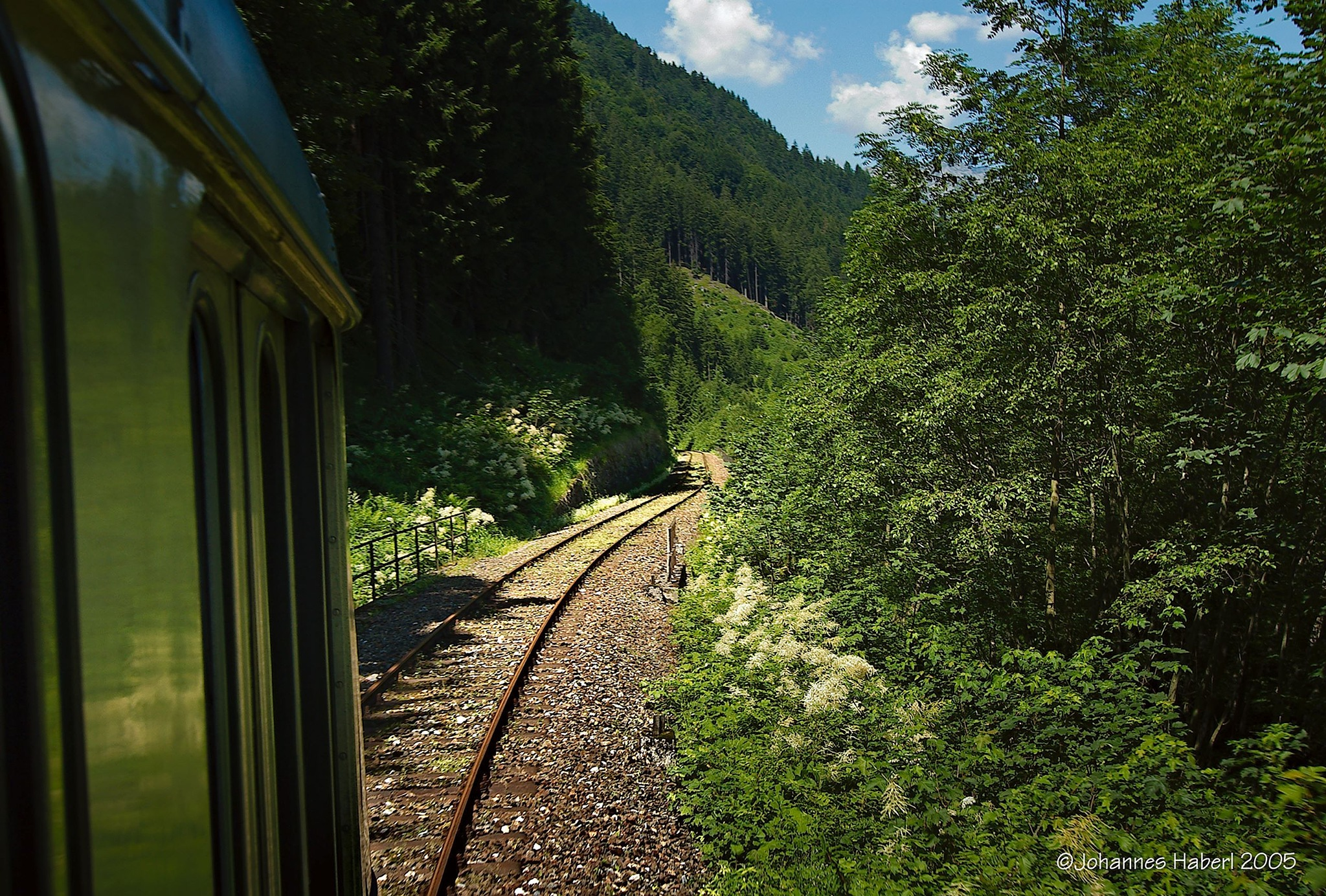 track through the woods - Erzbergbahn by Johannes Haberl