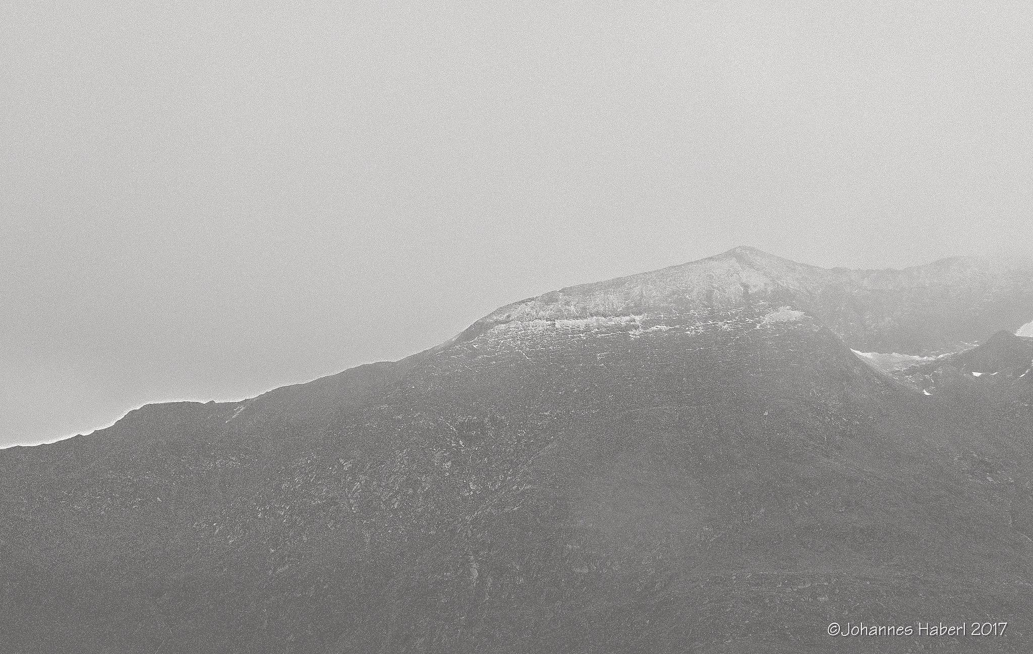mountain / B&W by Johannes Haberl
