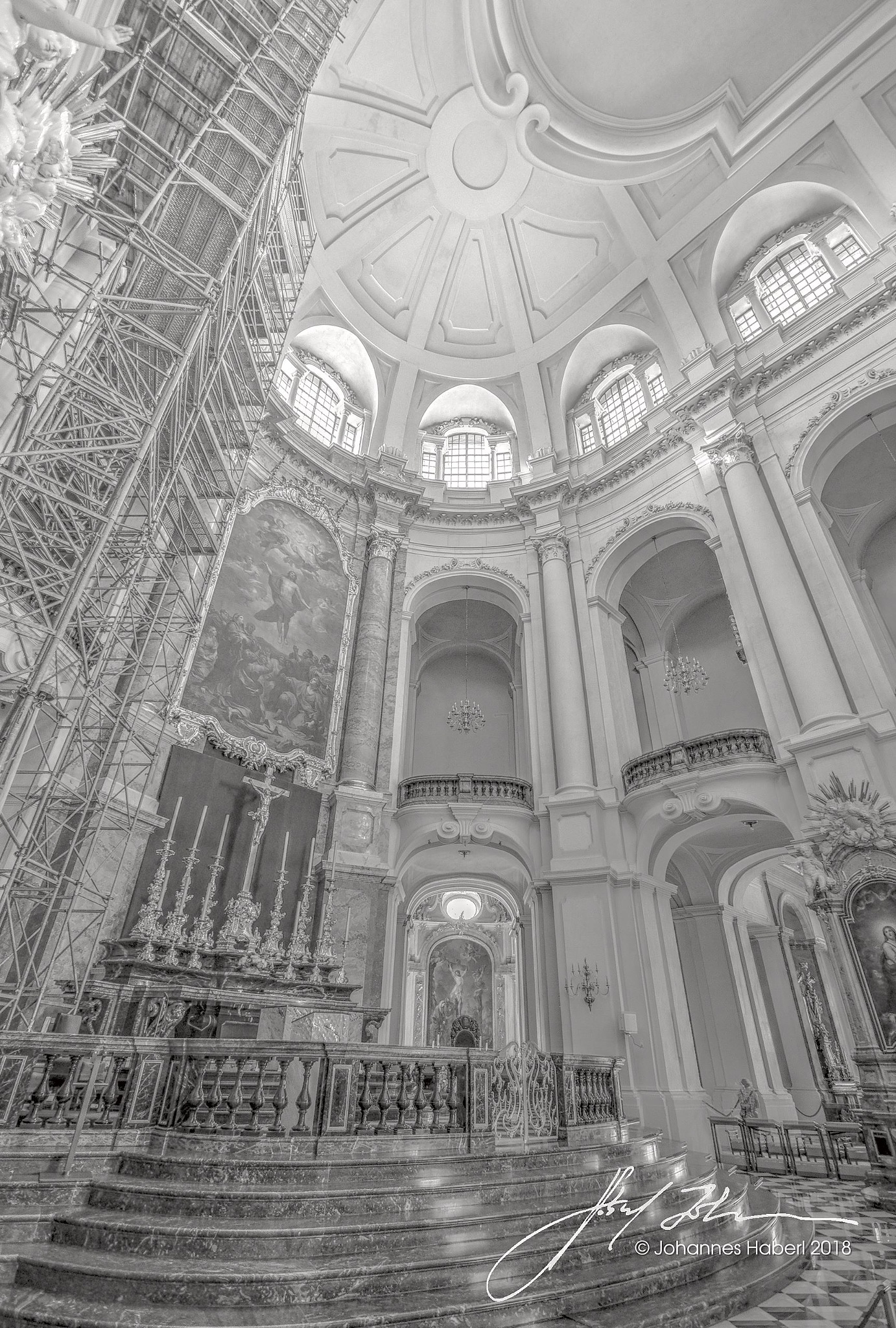 church V, HDRI, B&W, high key by Johannes Haberl