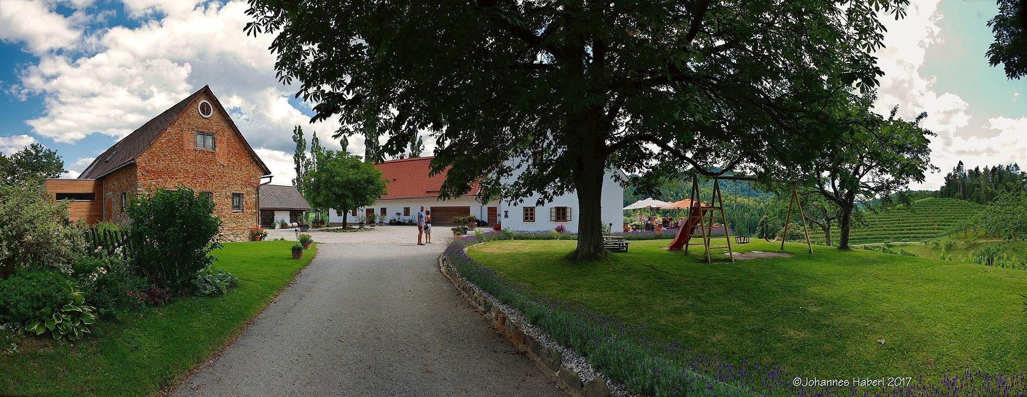 """Buschenschank"" Oberguess - panorama by Johannes Haberl"