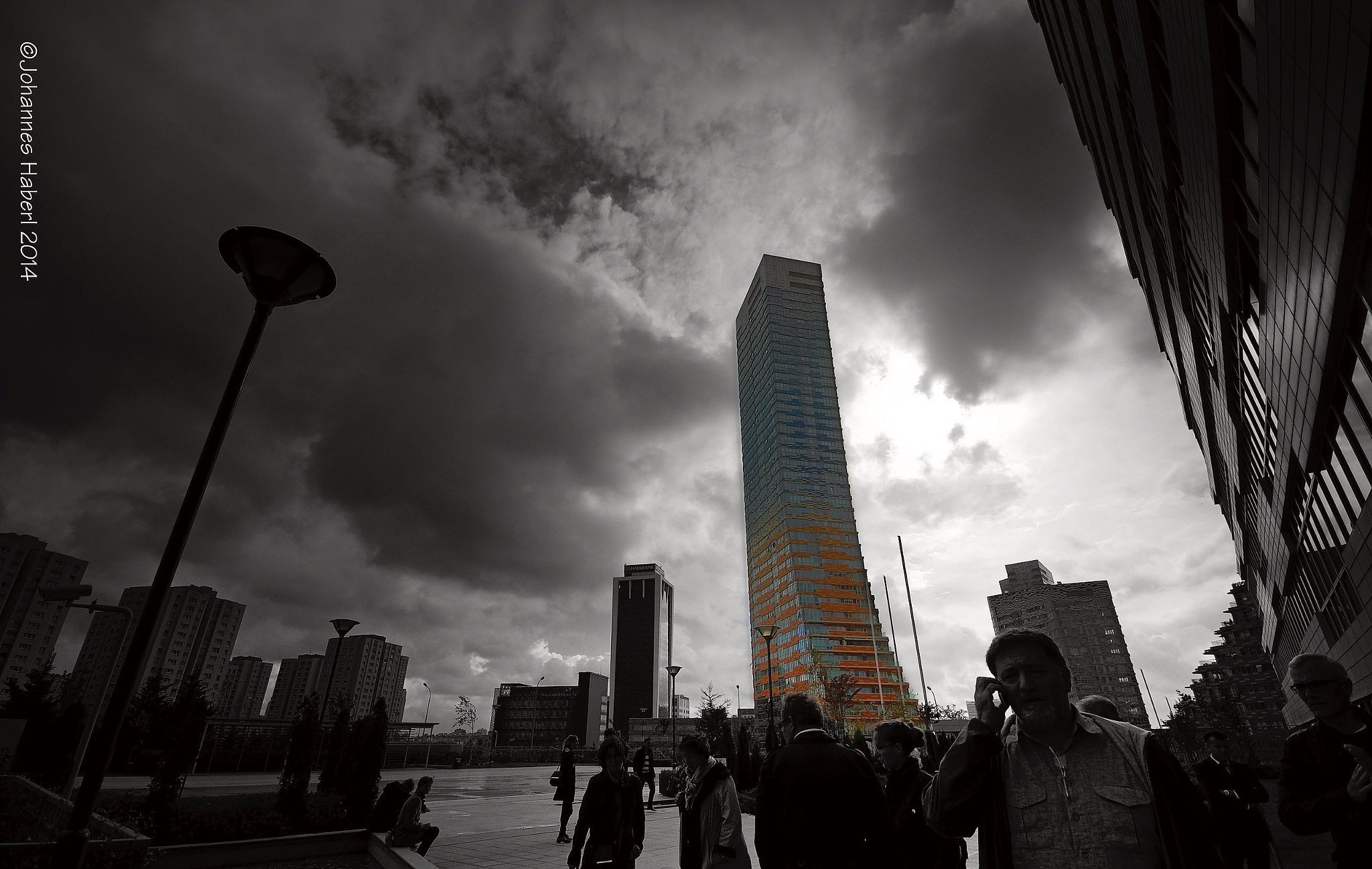 skyscraper Istanbul / B&W & color by Johannes Haberl