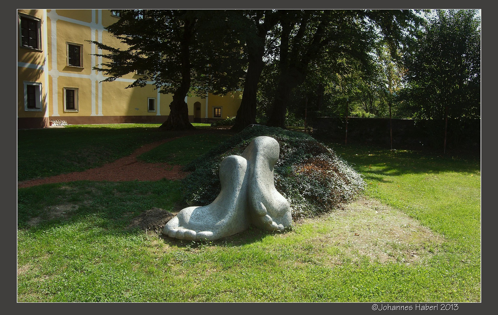 land art - sculpture in a park by Johannes Haberl