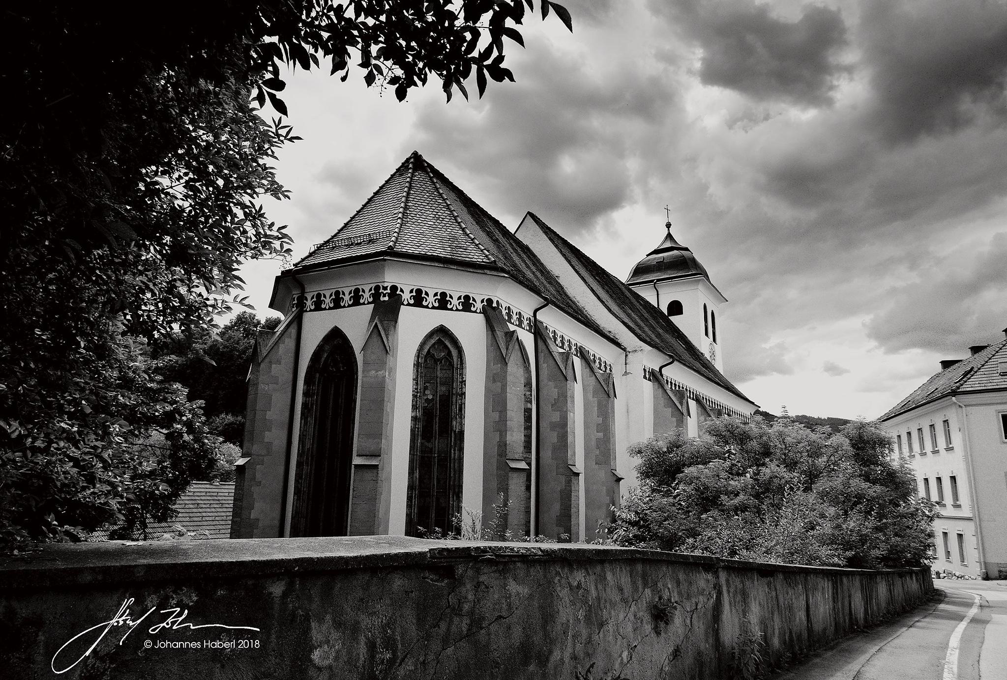 church 2 / B&W by Johannes Haberl