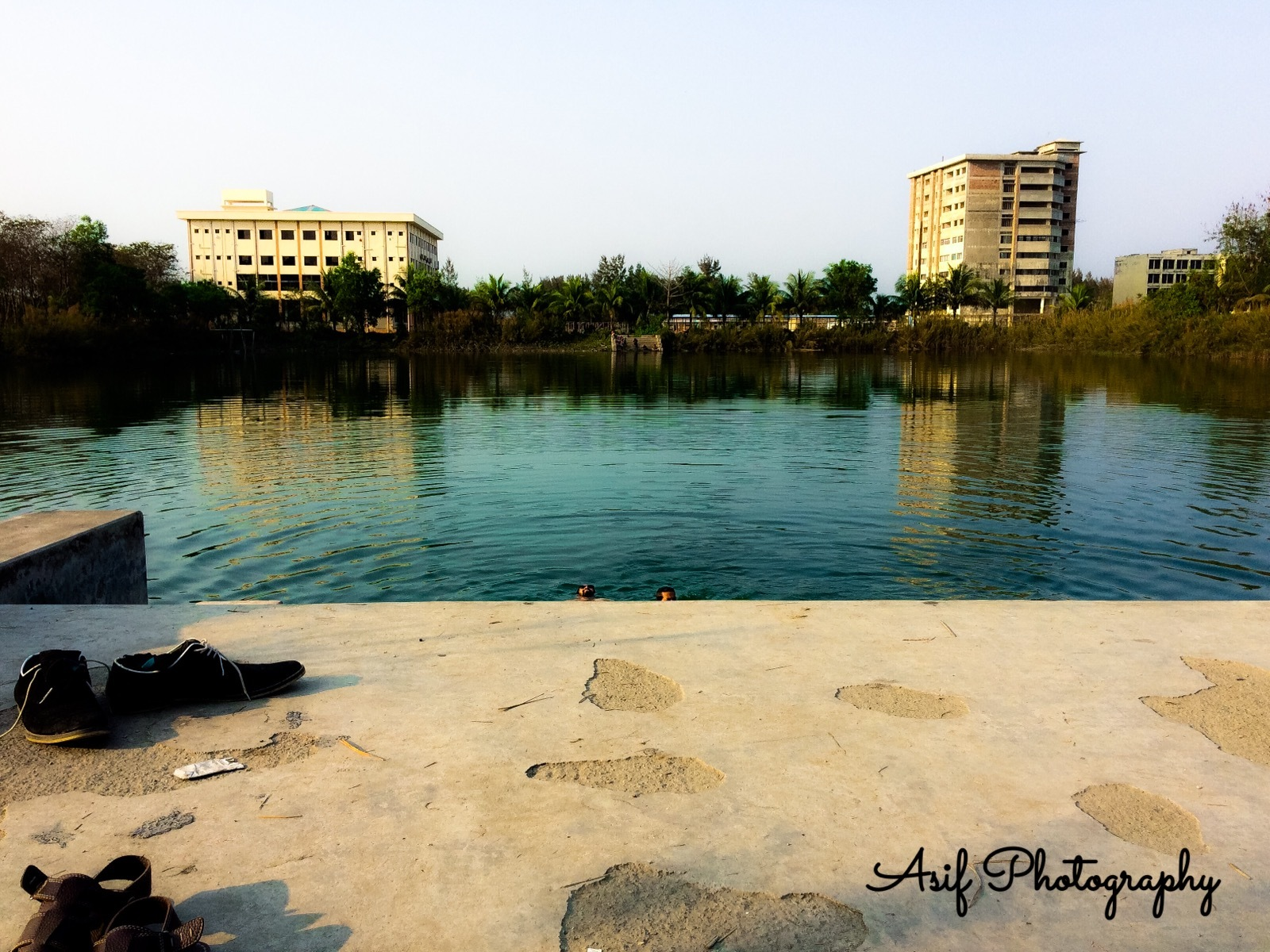 pond side  by Asif