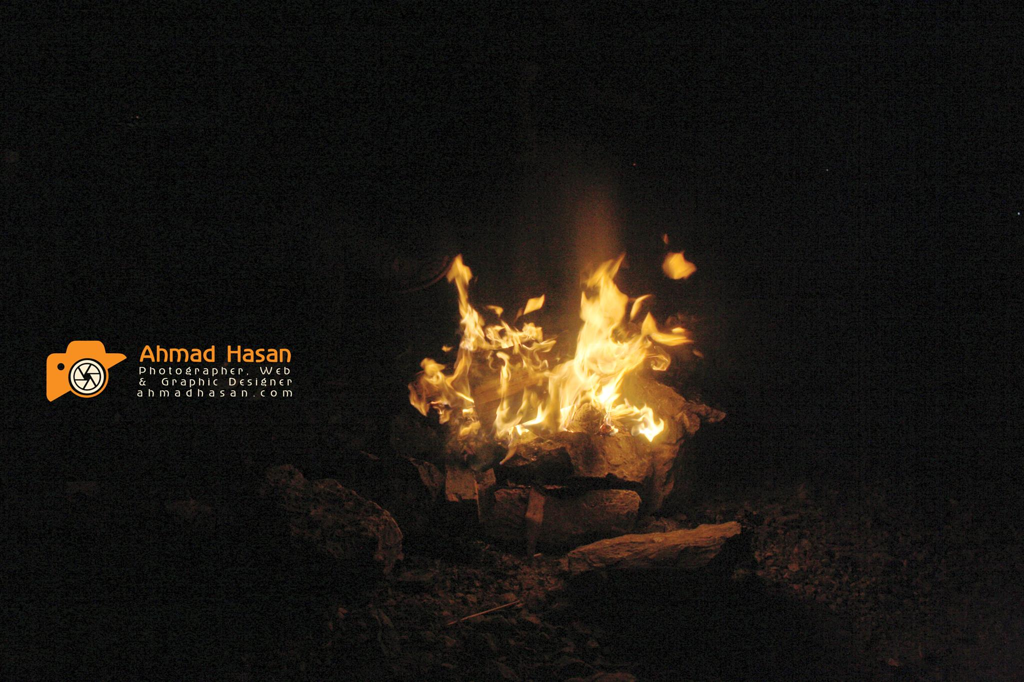 camp fire by Ahmad Hasan