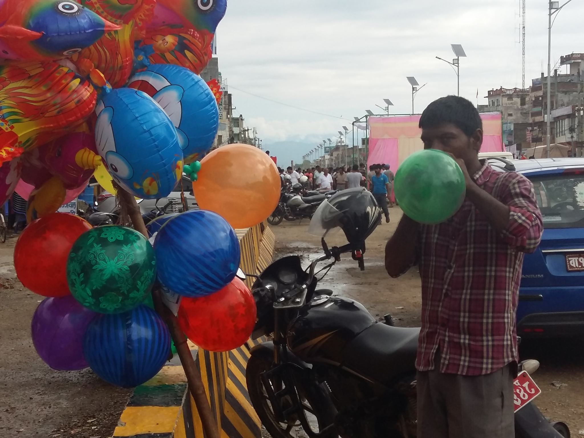 balloon blowing by mohammad nihal akhtar