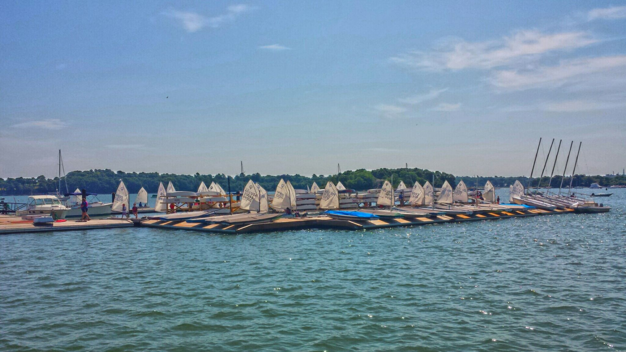 yacht club beginning of  Summer by karajean17
