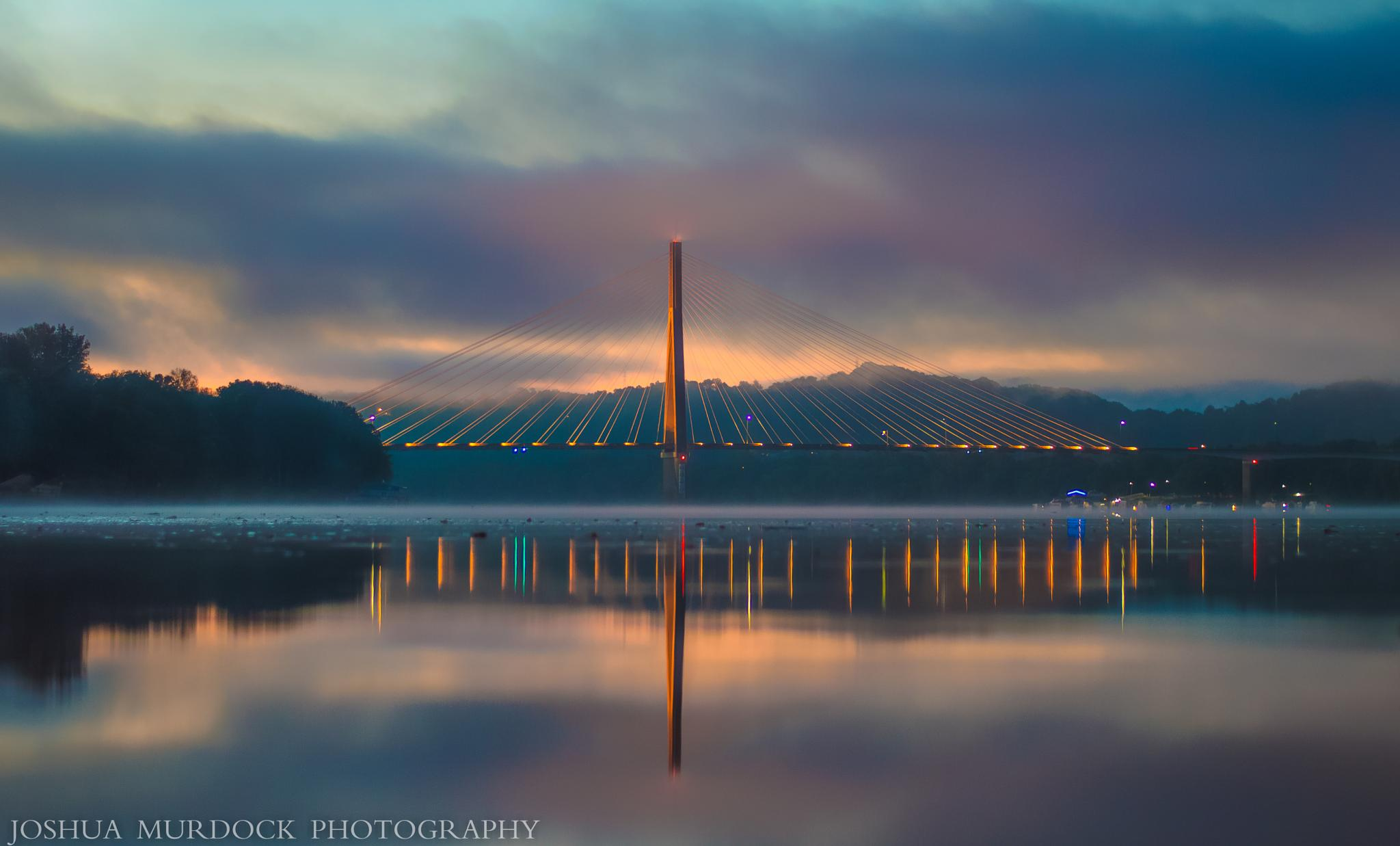 Sunrise over the Mighty Ohio River by Joshua Murdock -     Murdock Photography