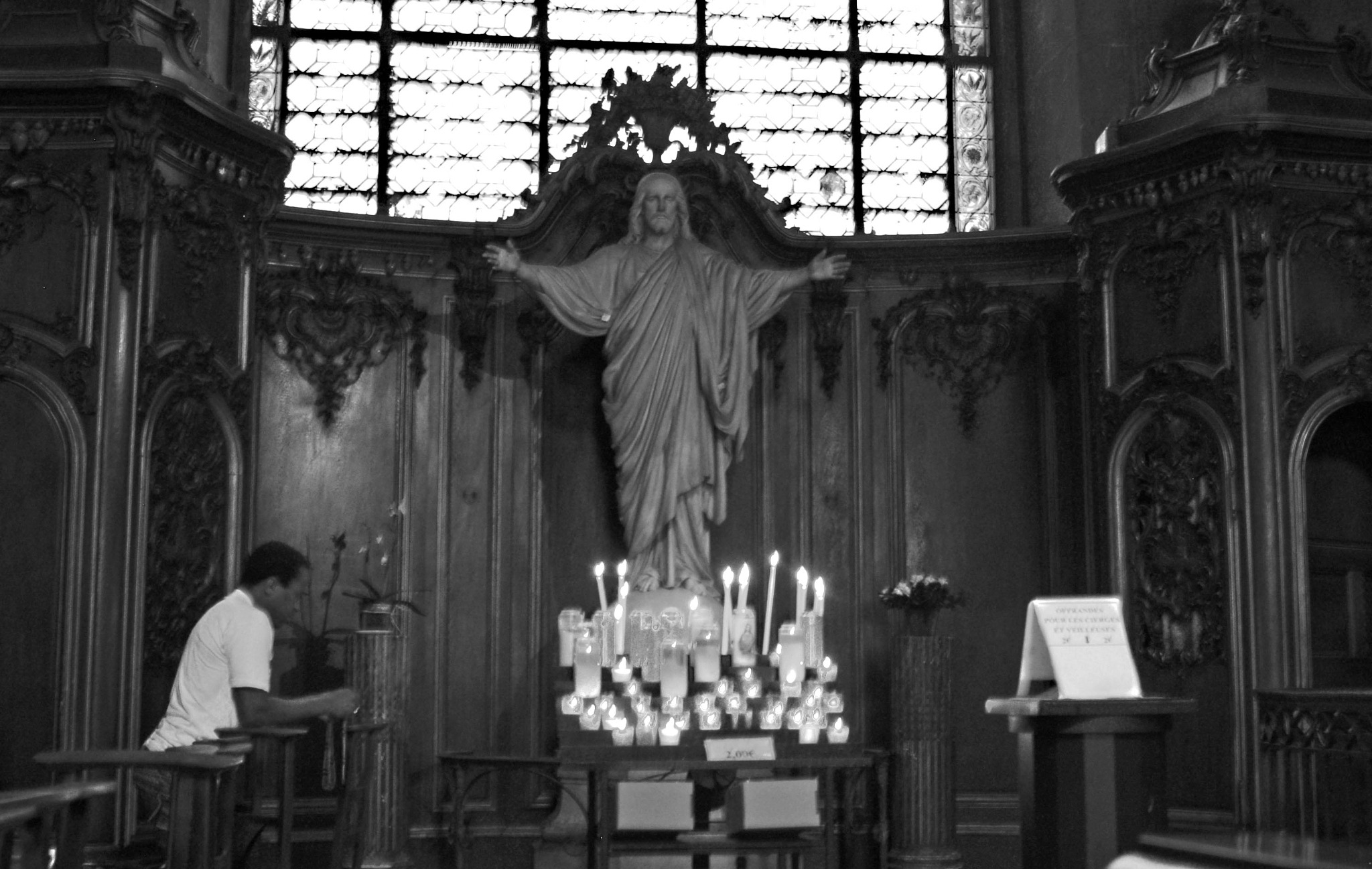 Photo in Black and White #pray #interior #paris #b&w