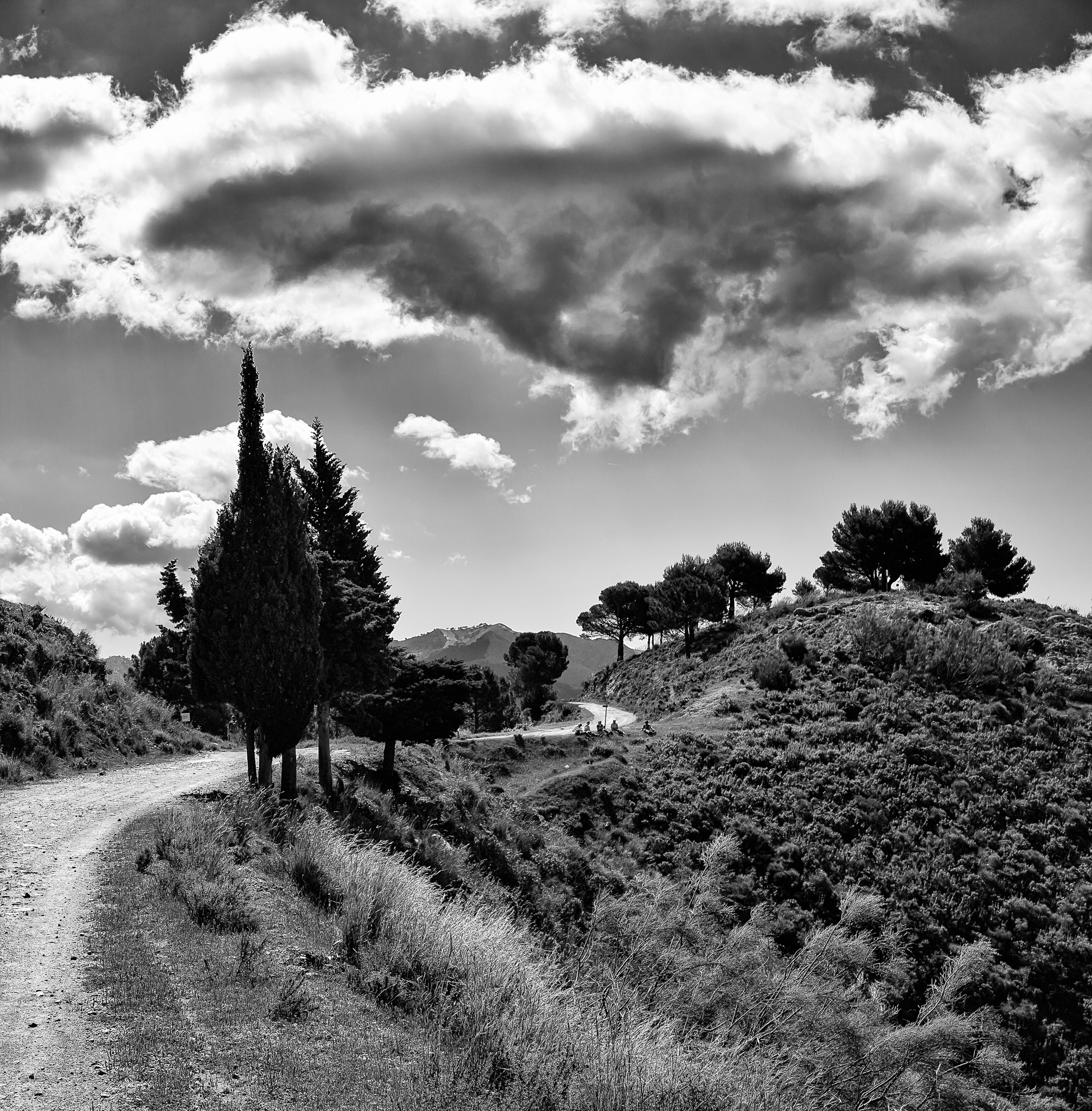 Photo in Black and White #mountains #spain #malaga #black and white #hiking