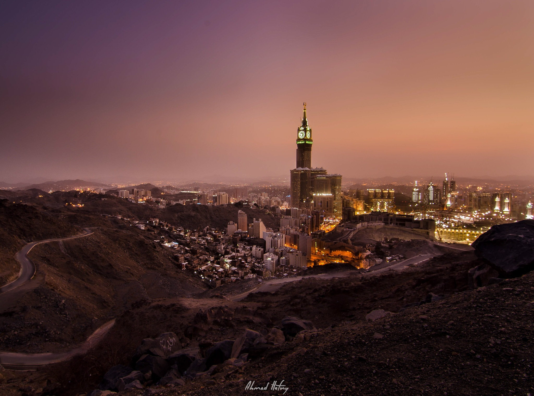 Makkah Sunset by Ahmad Hefny