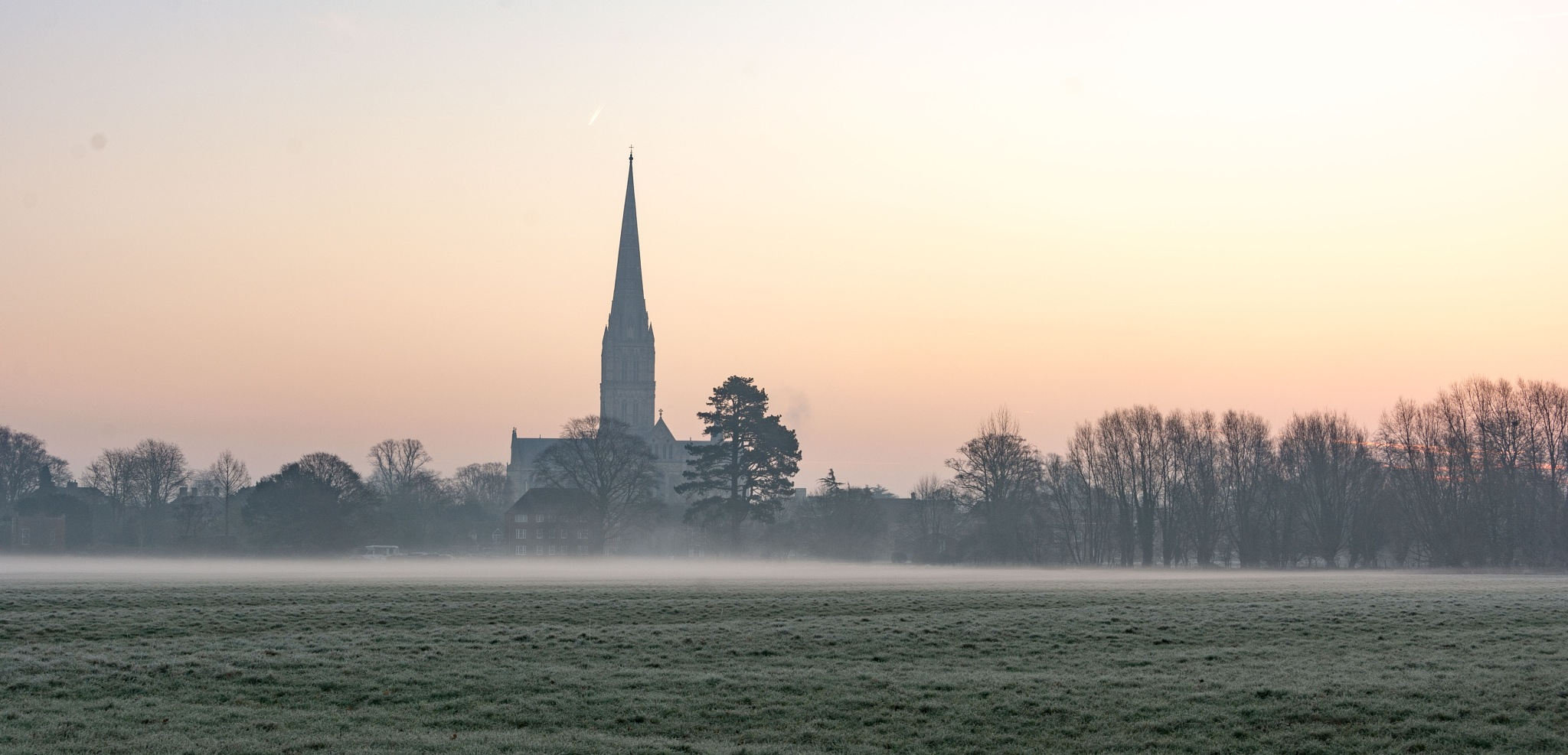 Salisbury Cathedral on a Frosty Morning by John McNeilly