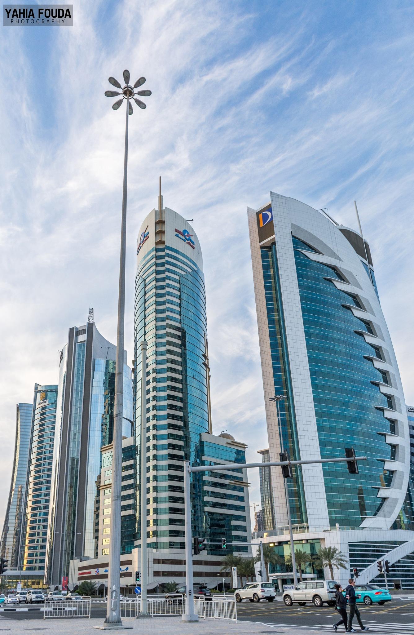 Doha Cityscape by Yahya Fouda