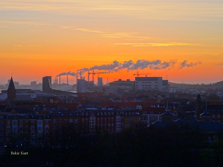 Sunset in Aalborg / Denmark by Bekir Kurt