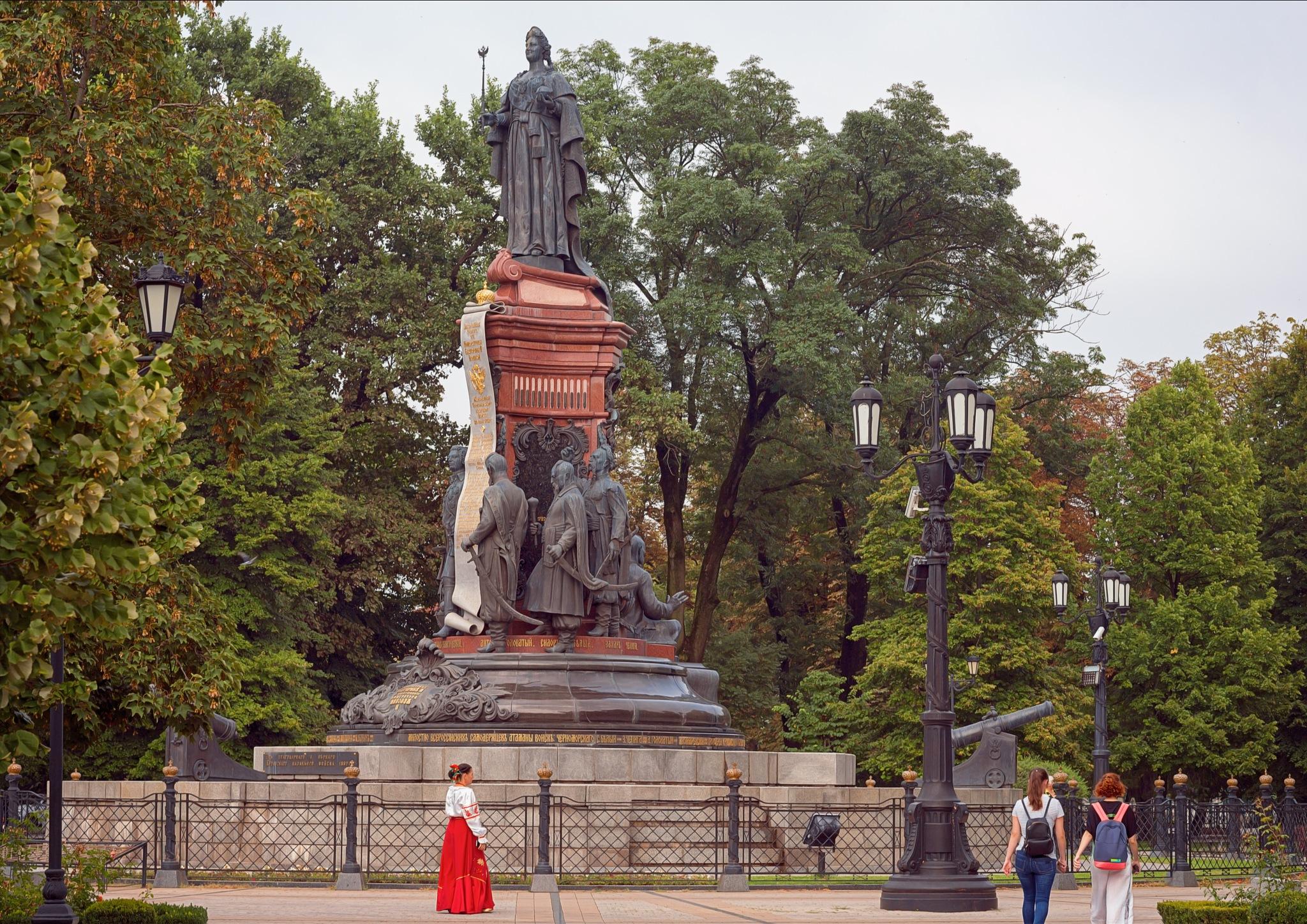 Monument to Catherine the great in Krasnodar by Igor Khizhnyak