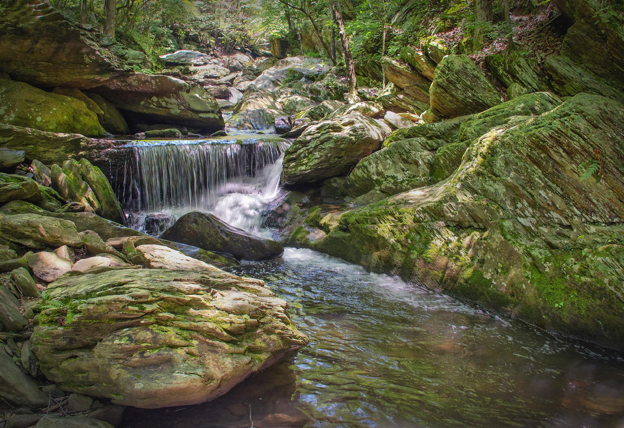 Mountain Waterfall by Joe Saladino