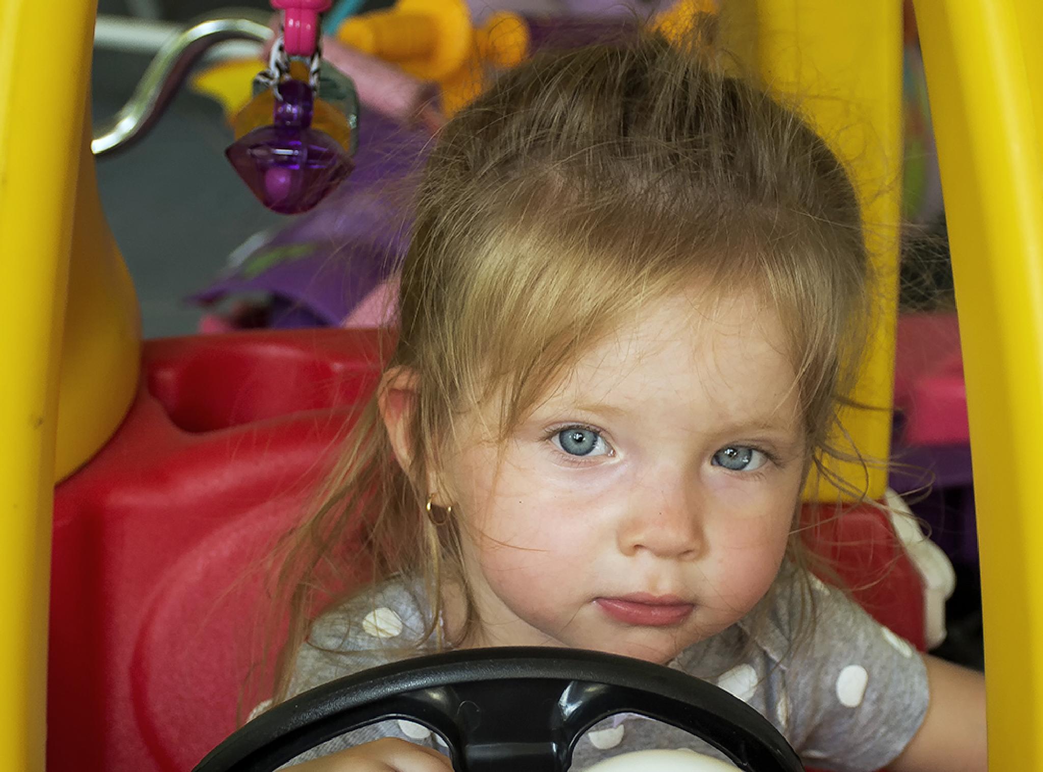 Gianna going for a drive by Joe Saladino