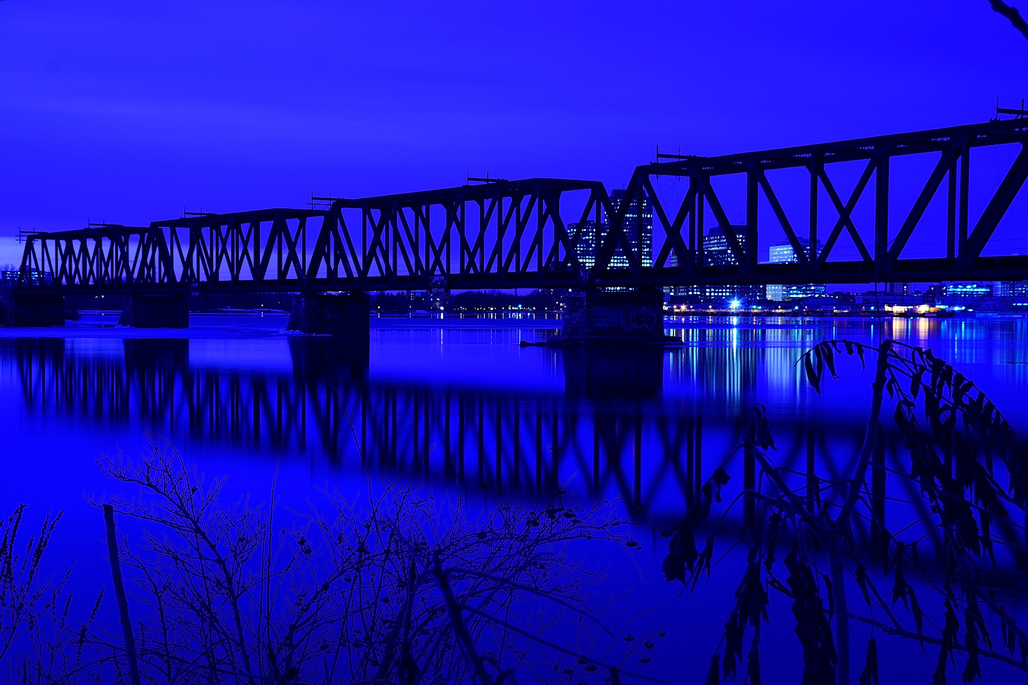 Archive bridge in blue.  by tamasergy