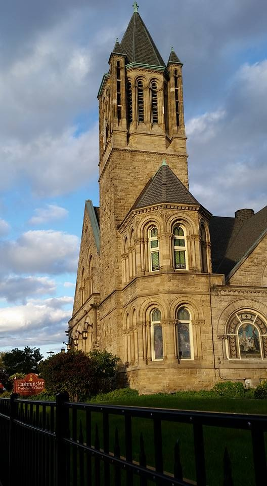 Presbyterian church in Pittsburgh by Ginger Ish