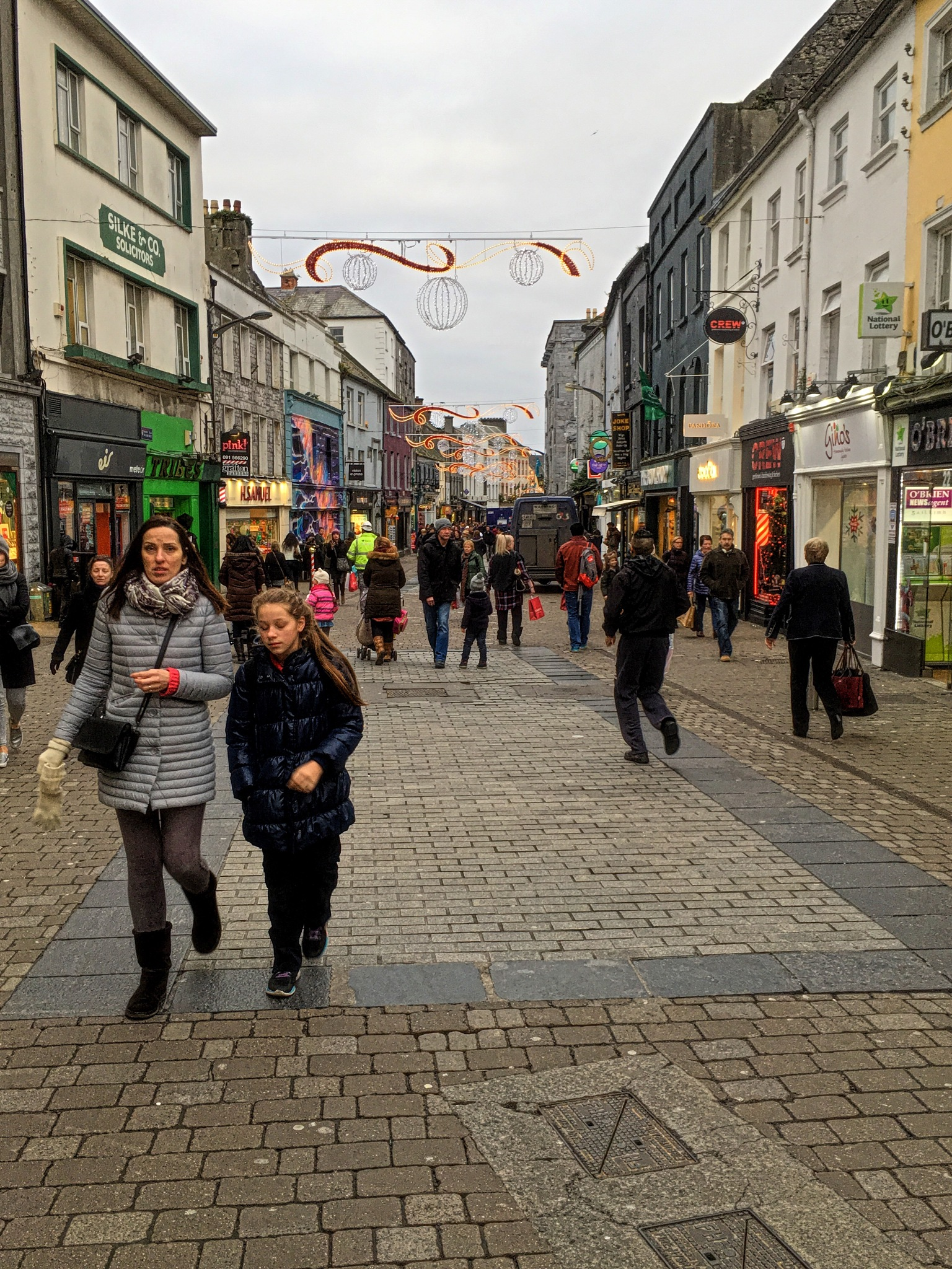 Christmas Shopping In Galway. by Patrick Curley