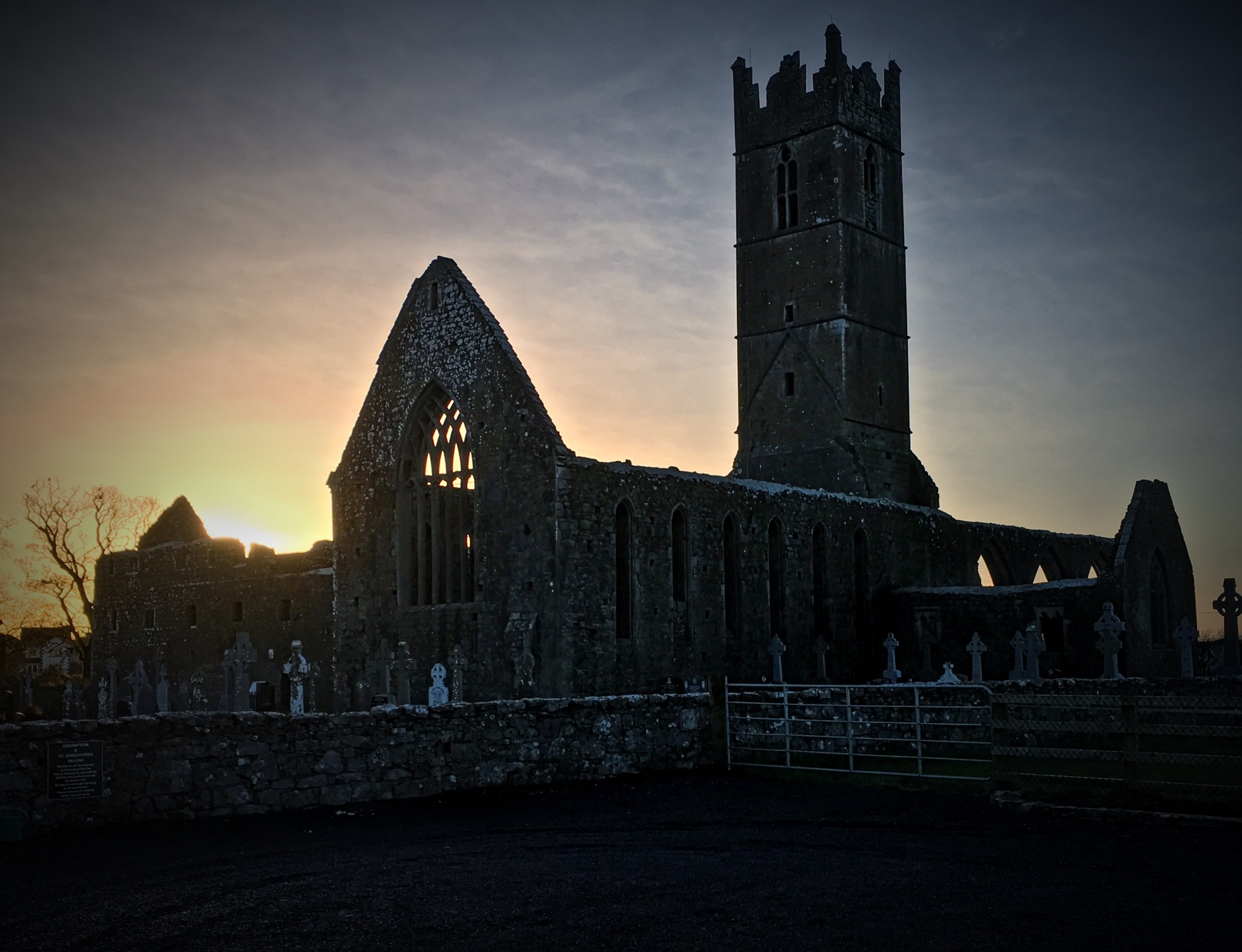Photo in Architecture #claregalway #ireland #galway #franciscan friary #sunset #ruins #eire #iphone #iphoneography