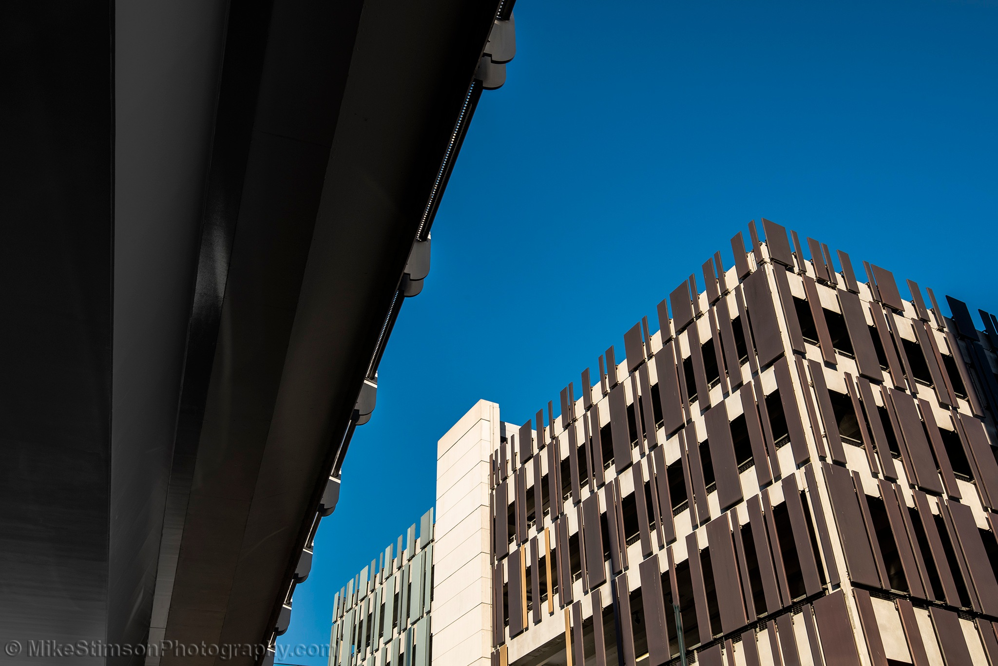 Car Park and Tram Overpass by Mike Stimson