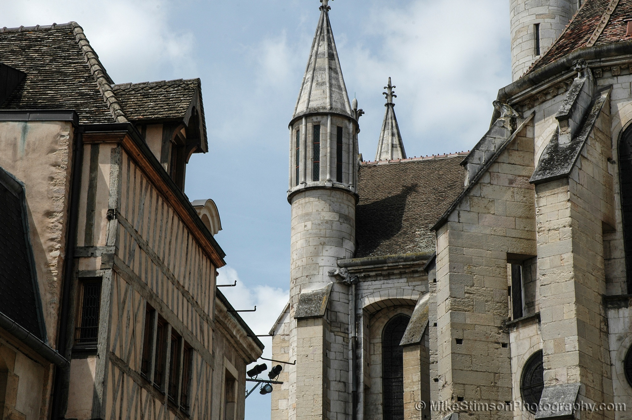 Cathedral and surrounding buildings, Dijon by Mike Stimson