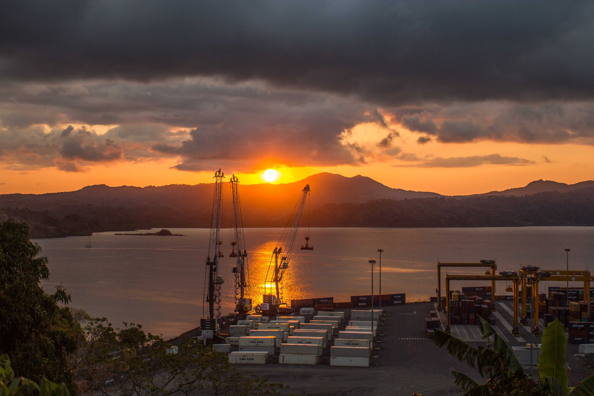 Sunset in Longoni Port, Mayotte by Nicolas F.