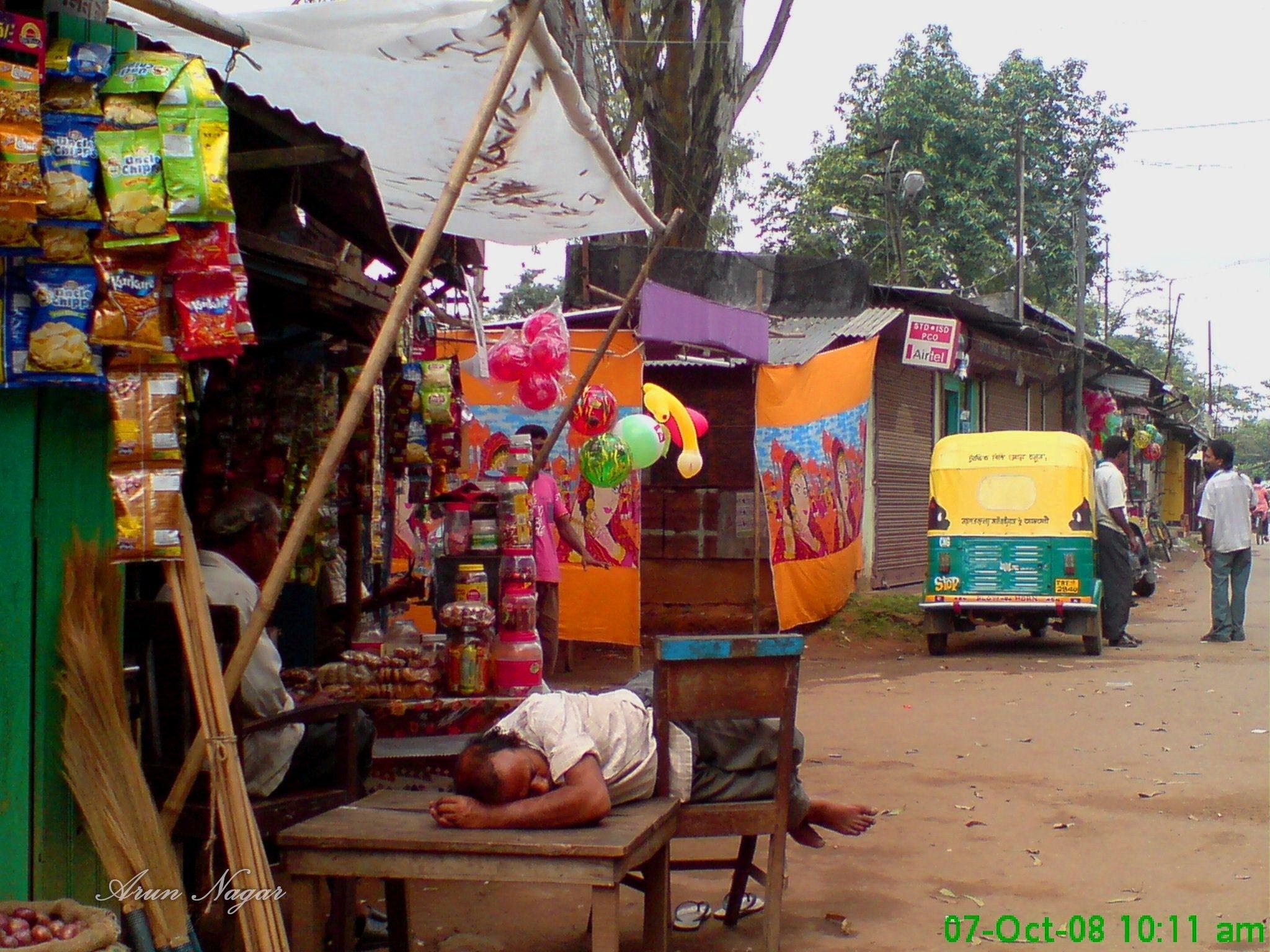 Morning of a remote village by Arun Nagar