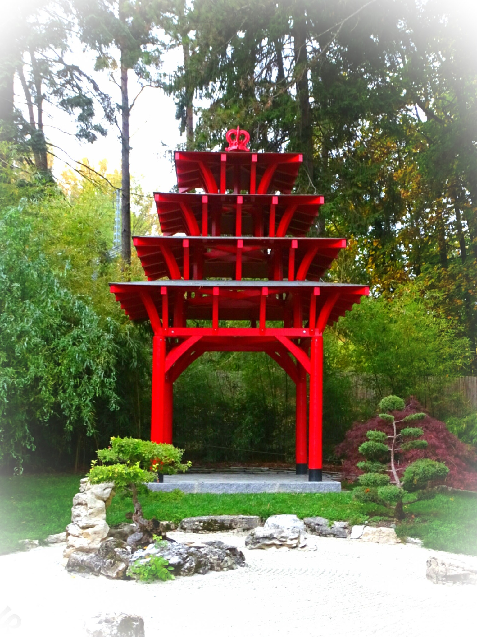small red temple by Isa Bel