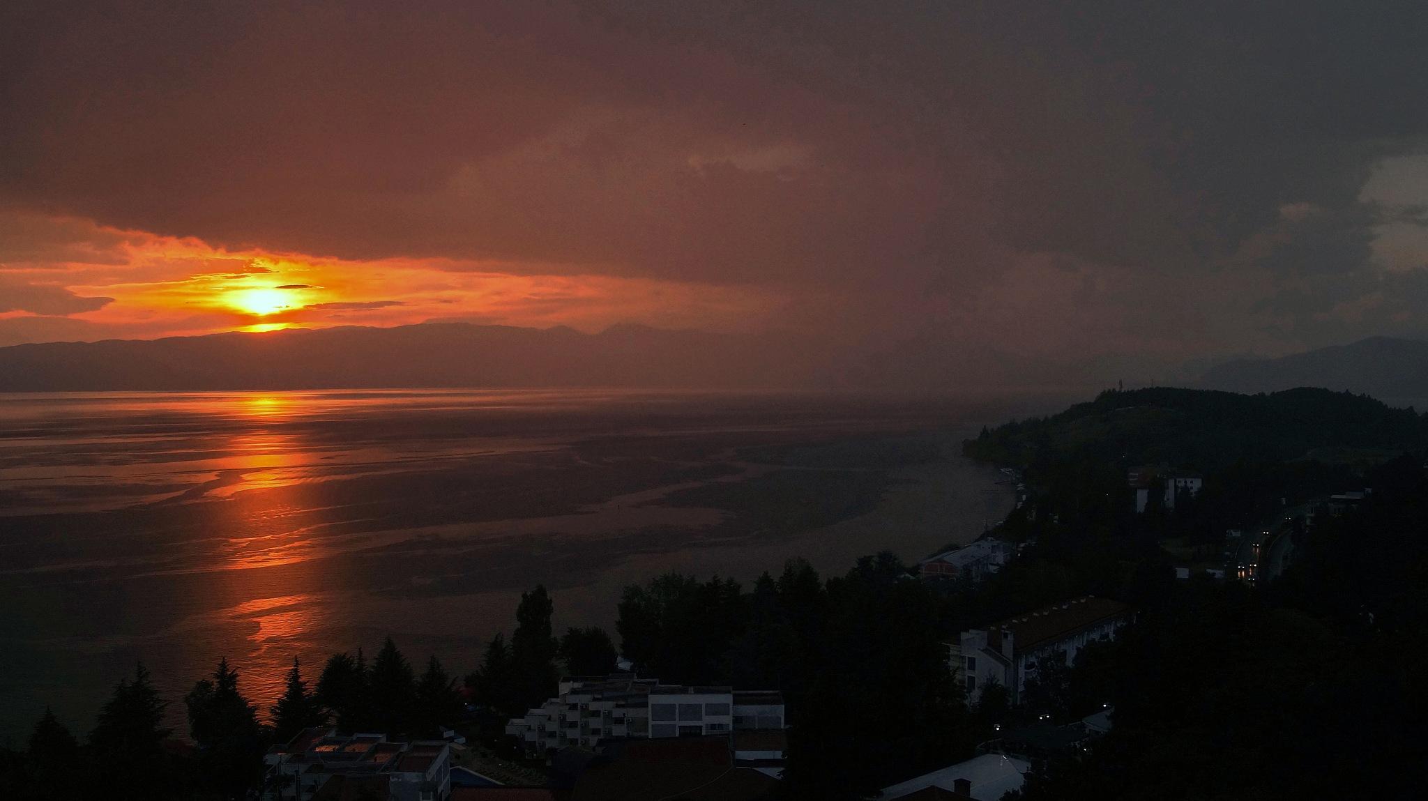 Sunset in Ohrid,Macedonia by darko1965