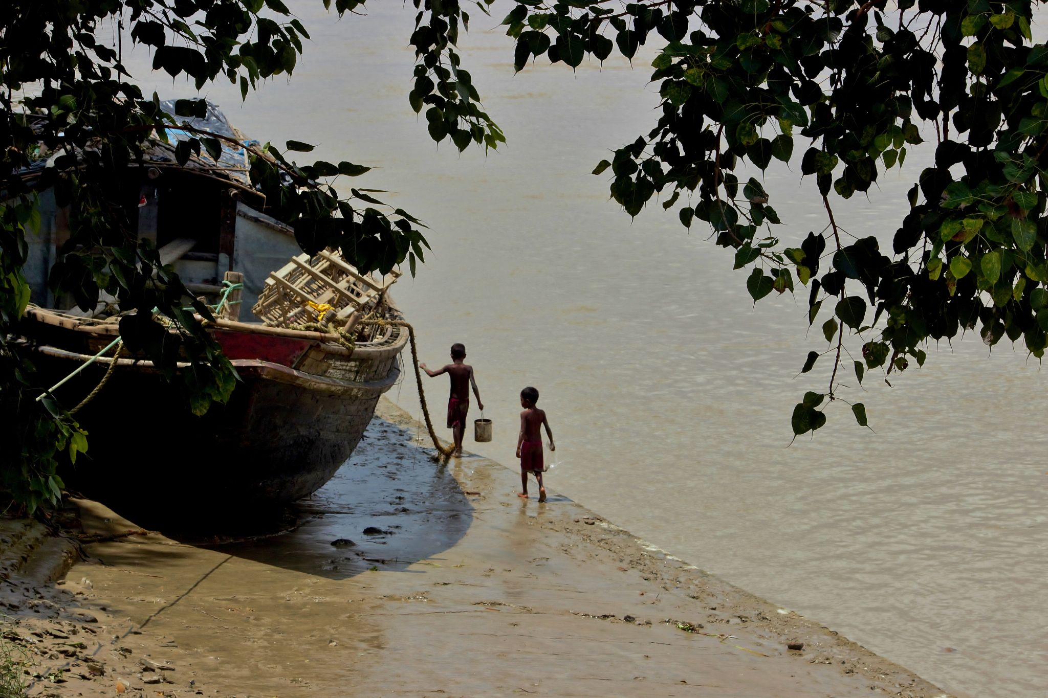time to return :).... after bath by Shuvarthy Chowdhury
