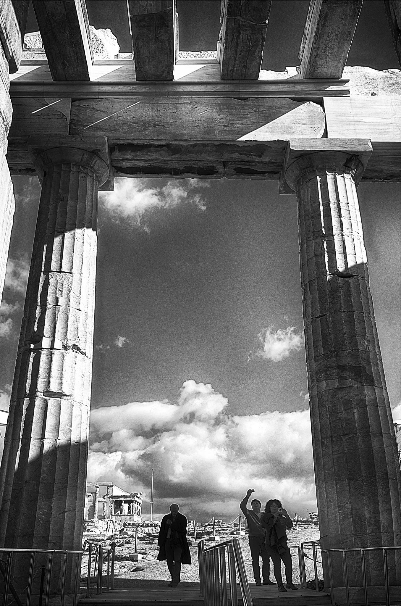 Entering the Acropolis by Stathis Karatzas